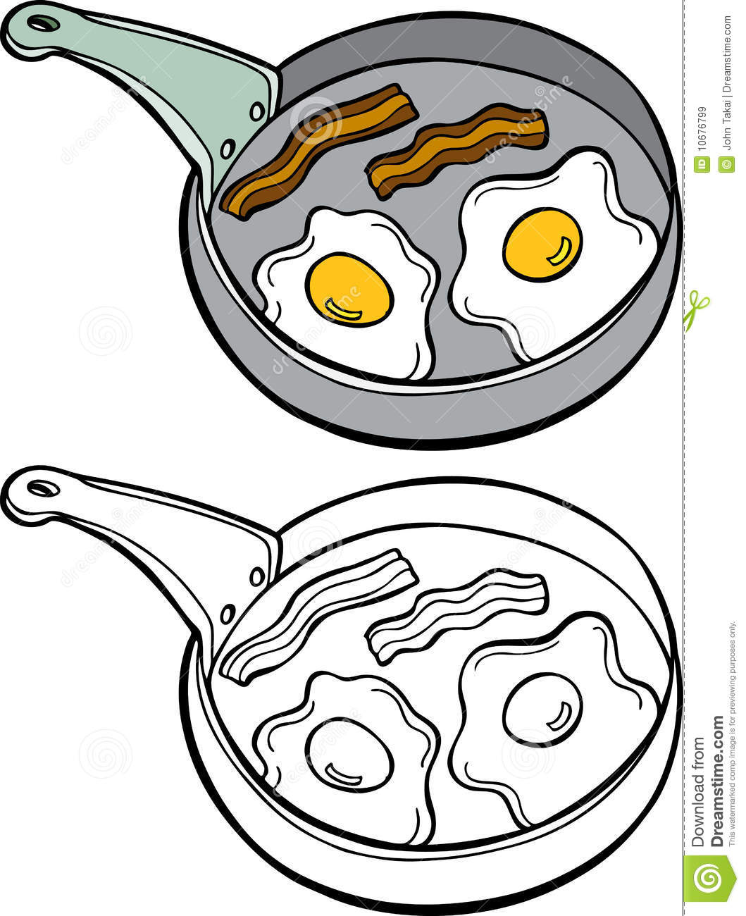 Bacon And Eggs Royalty Free Stock Images - Image: 10676799