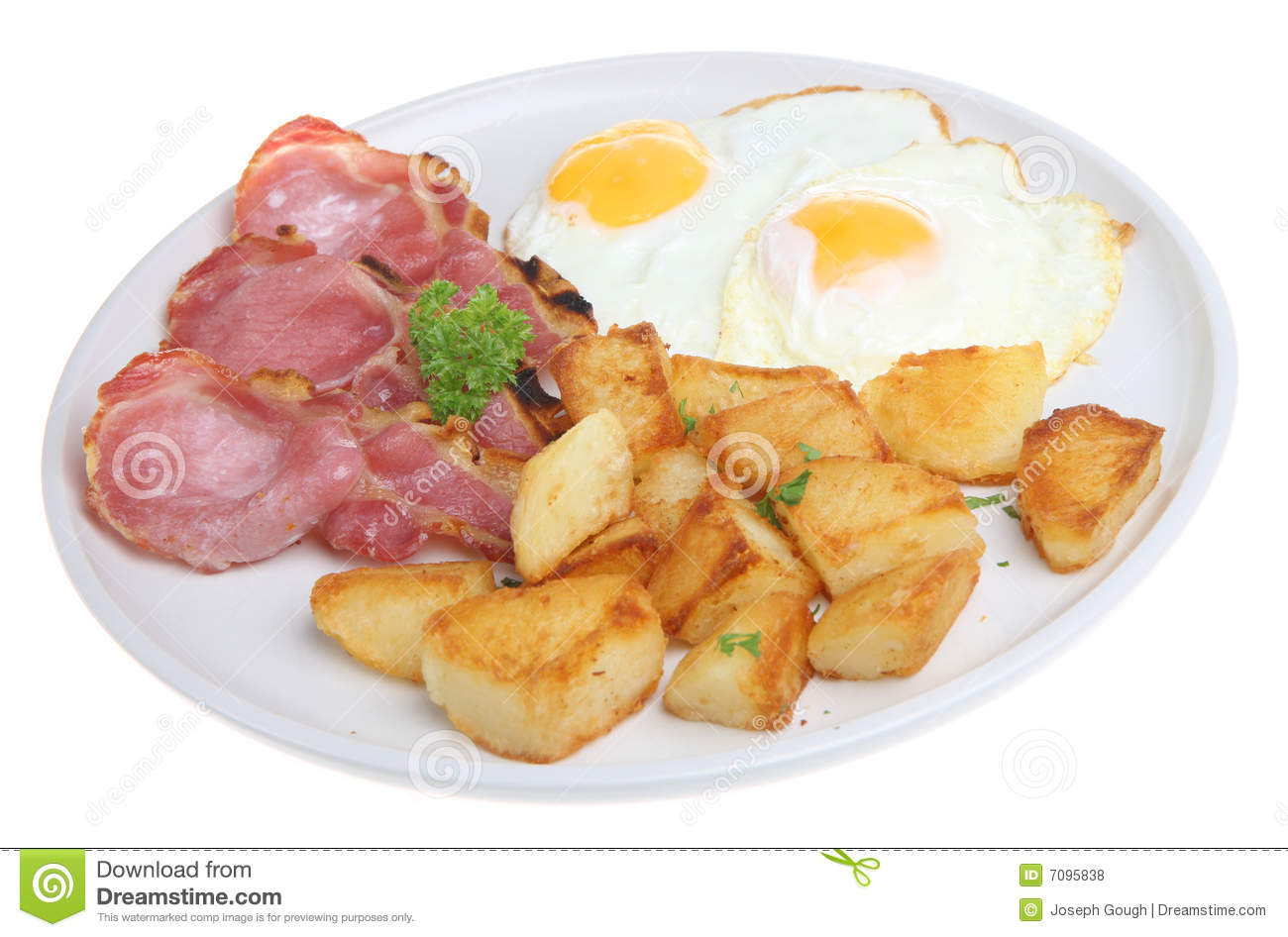 Bacon, Eggs & Fried Potatoes Royalty Free Stock Photos - Image ...