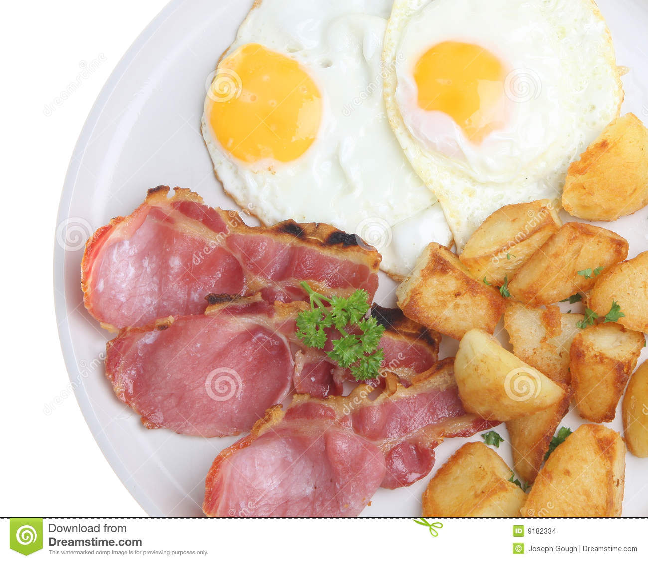 Bacon, Eggs And Fried Potatoes Stock Images - Image: 9182334