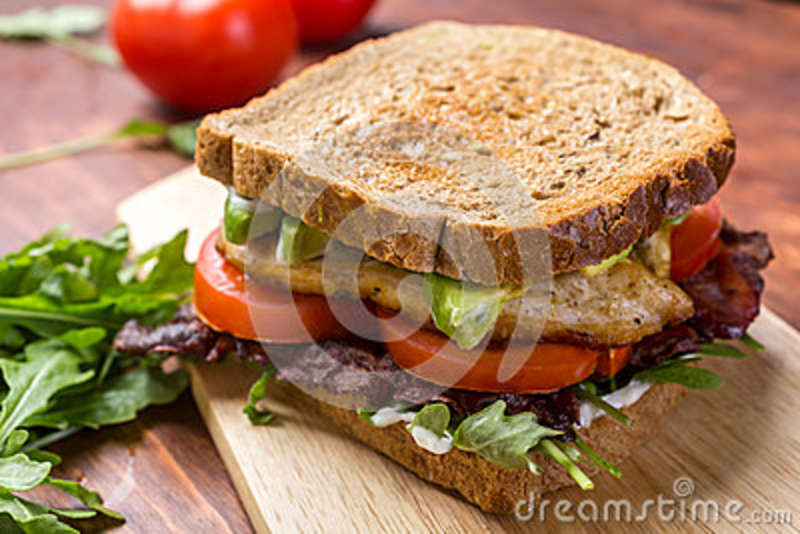 Bacon, Lettuce And Tomato BLT Sandwiches Stock Photo - Image: 43039530