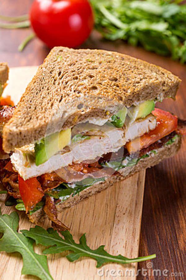 Bacon, Lettuce And Tomato BLT Sandwiches Stock Photo - Image: 43039992