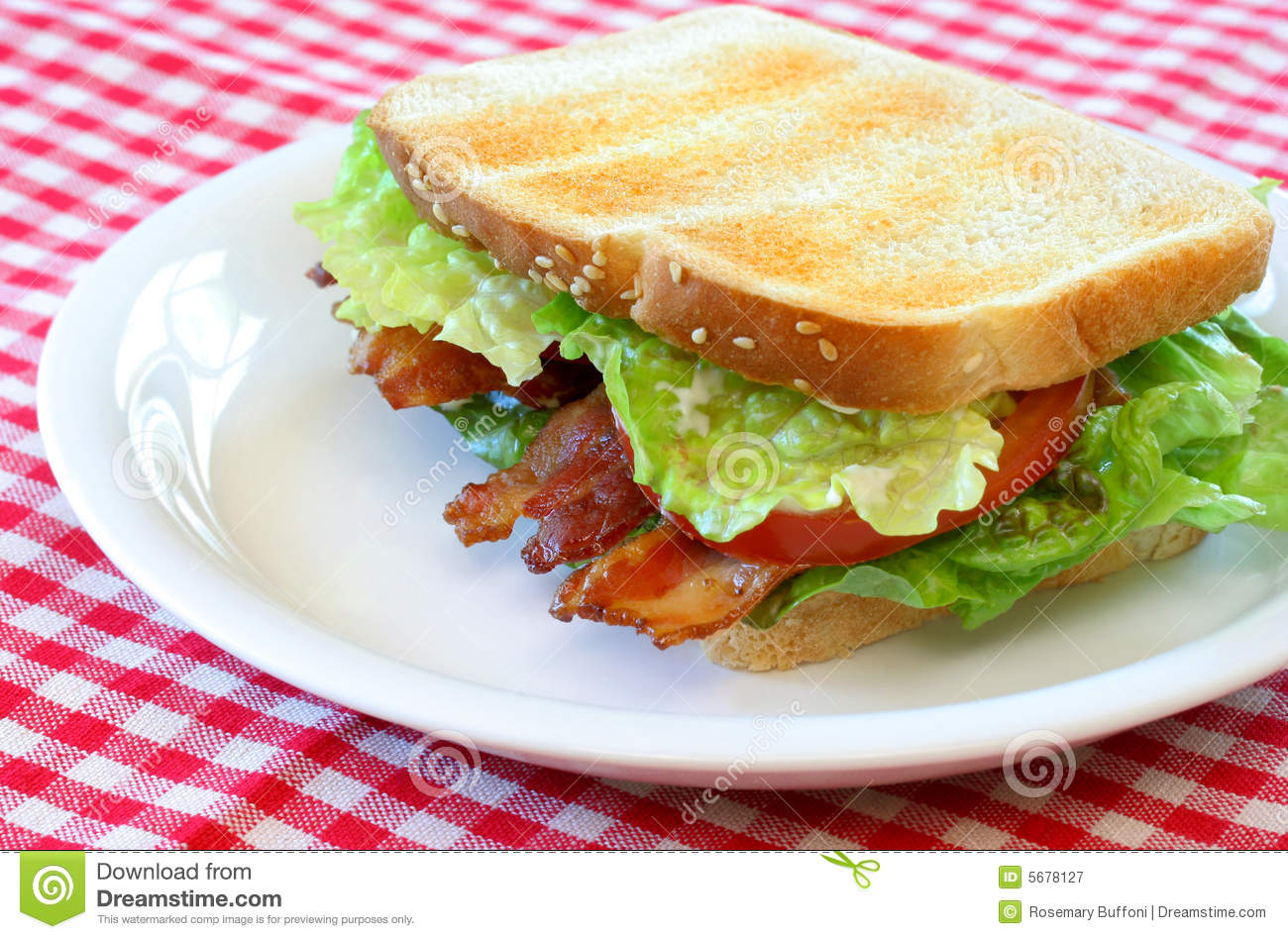 Bacon, Lettuce And Tomato Sandwich Royalty Free Stock Photography ...