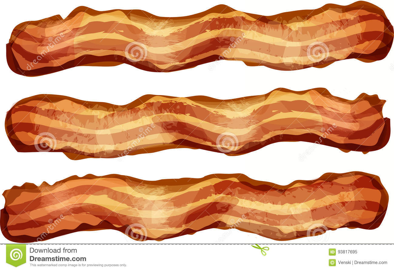 bacon strips stock illustrations 150 bacon strips stock rh dreamstime com clipart + bacon sandwich clipart bacon cobs and tea cakes