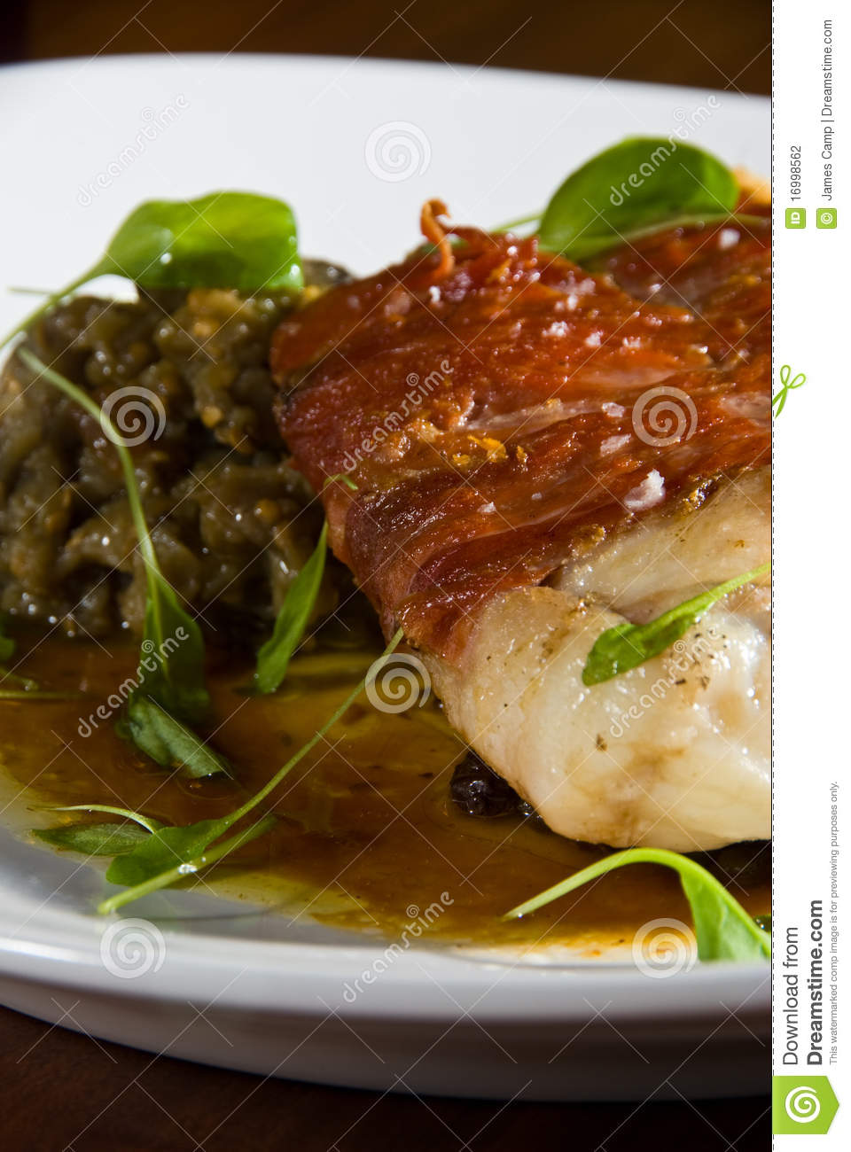 Bacon wrapped fish stock photography image 16998562 for Bacon wrapped fish