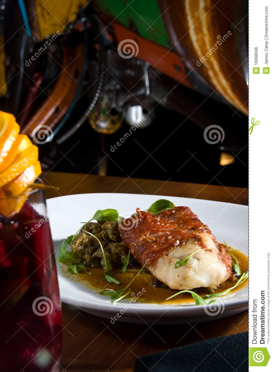 Bacon wrapped fish royalty free stock image image 16998566 for Bacon wrapped fish