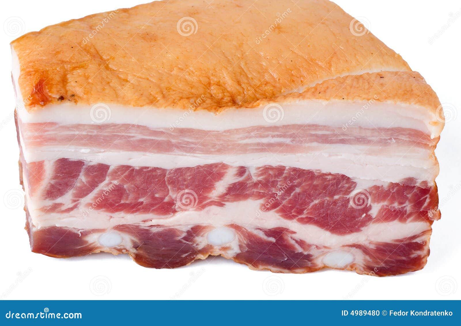 Baconstycket rökte