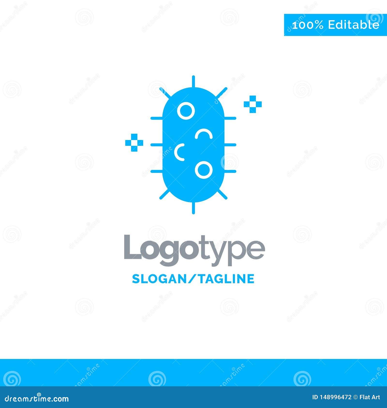 Bactéries, biochimie, biologie, chimie Logo Template solide bleu Endroit pour le Tagline