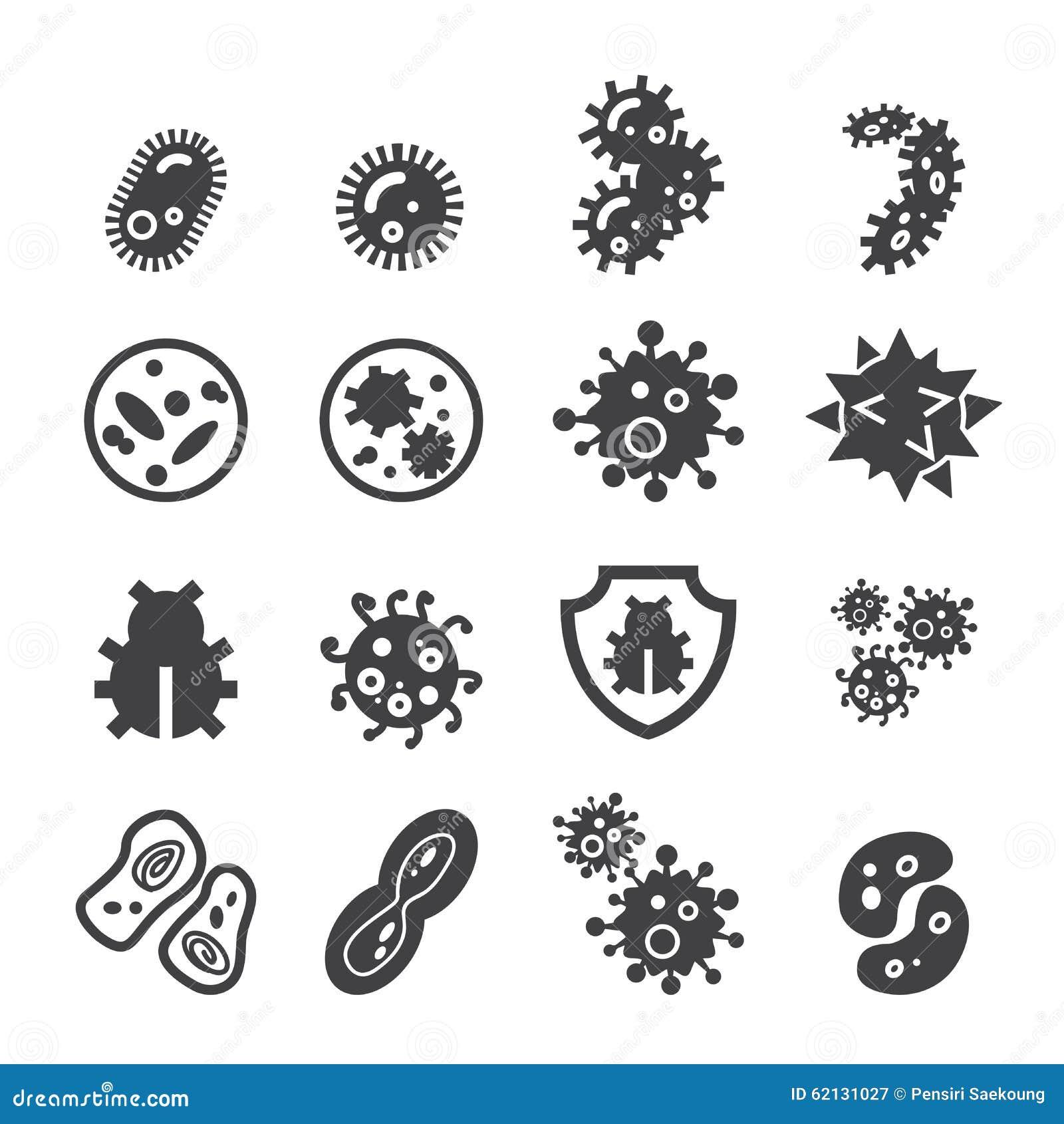 Vector Illustration Web Designs: Bacteria Icon Stock Vector. Image Of Petri, Pictogram