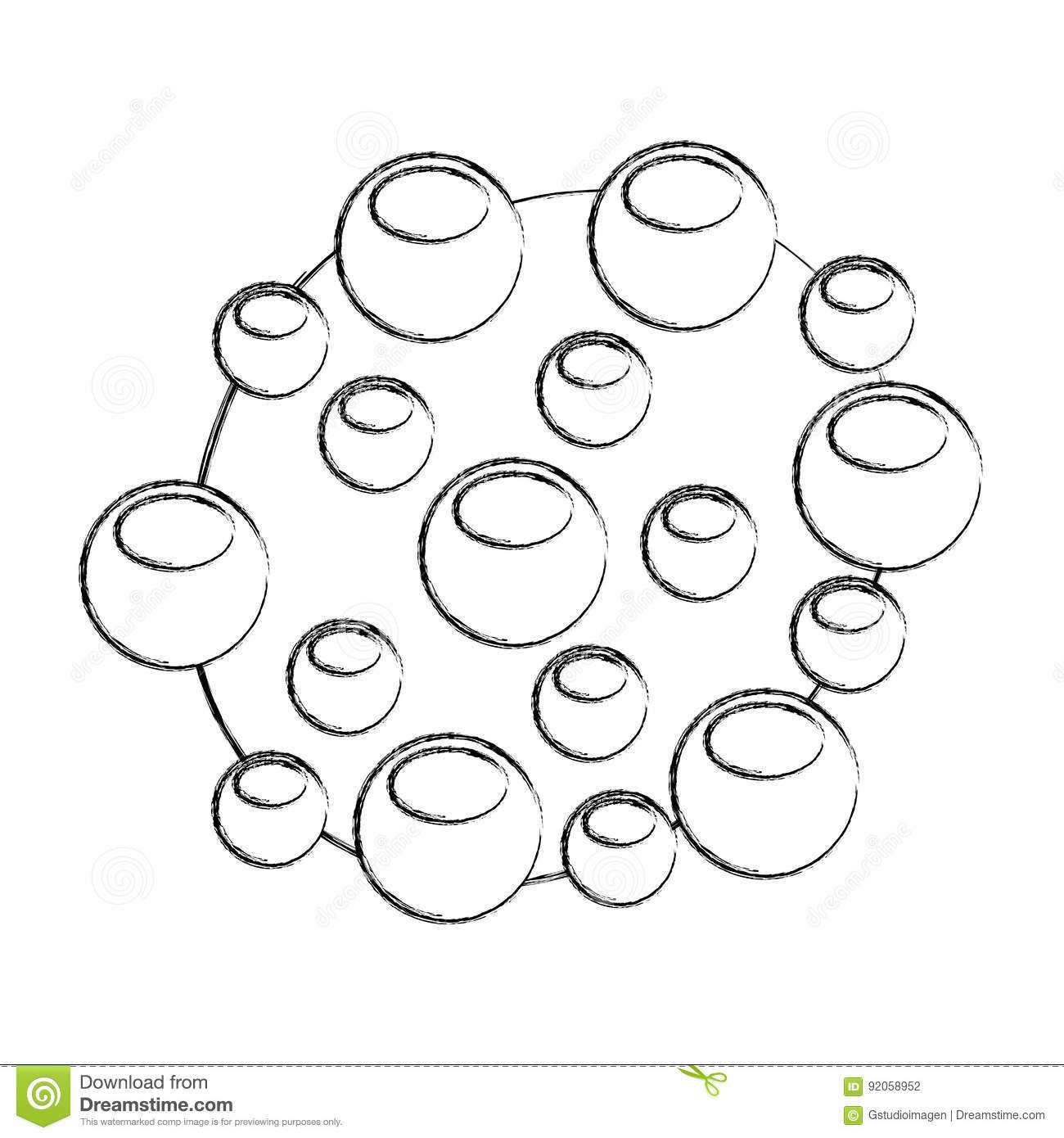 Bacterial Cell Structure Icon Stock Vector Image 92058952