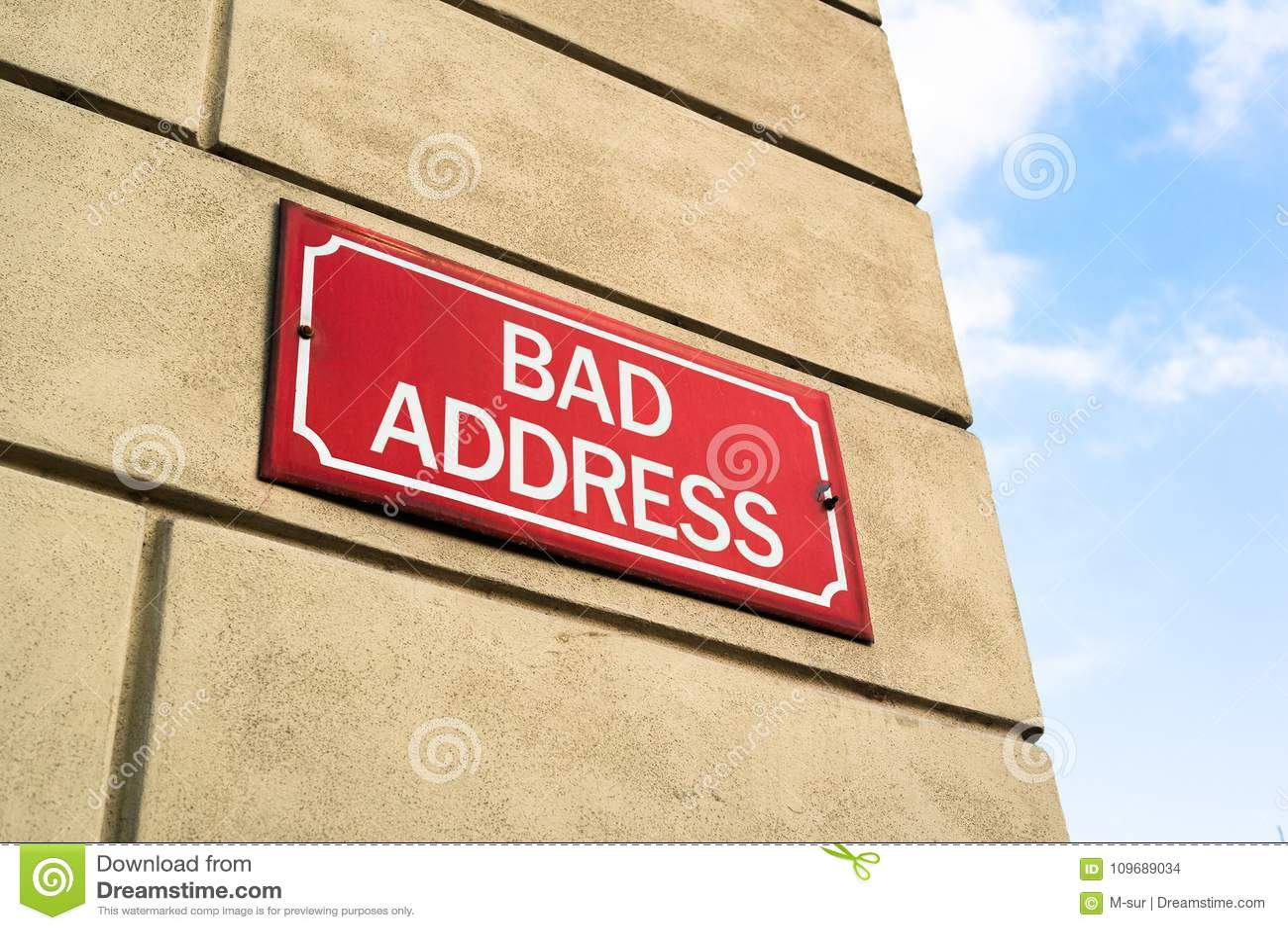 Bad Address