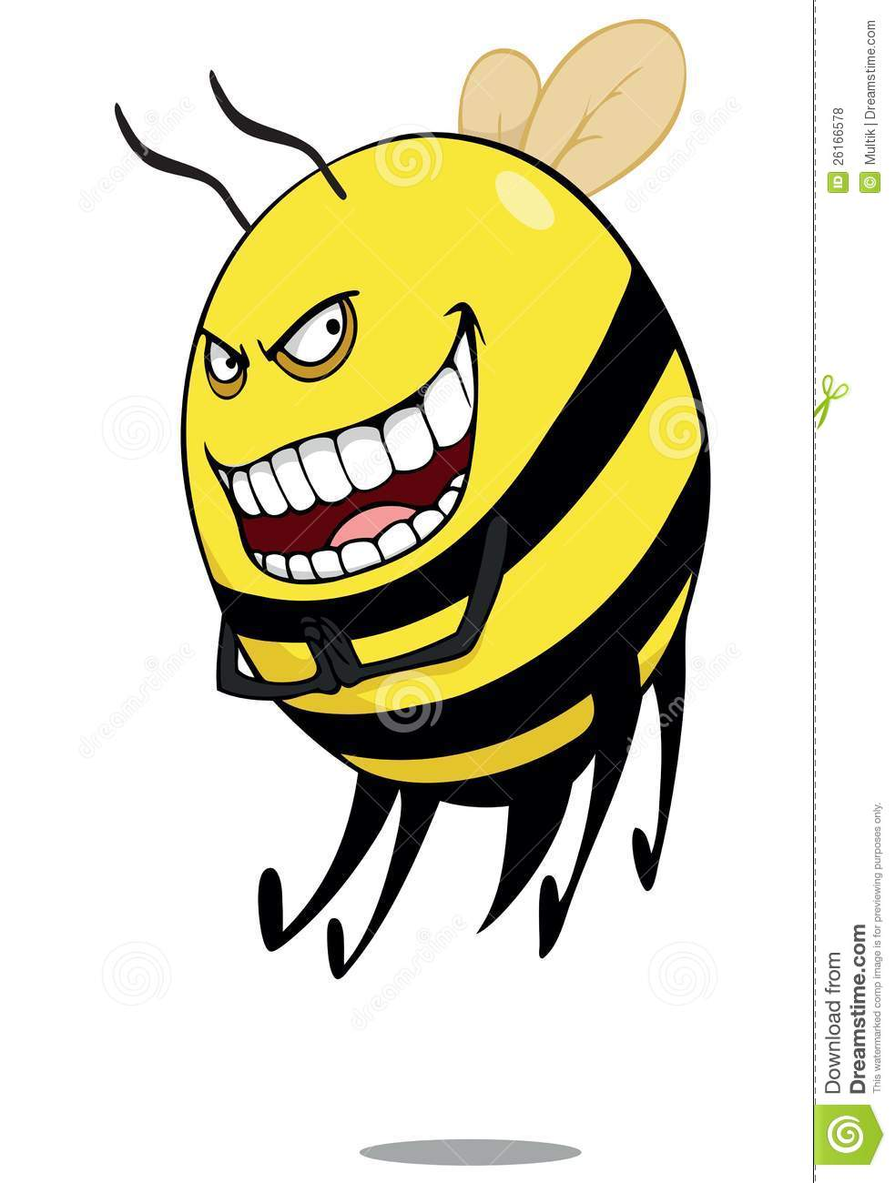 Bad Bee Royalty Free Stock Photos - Image: 26166578