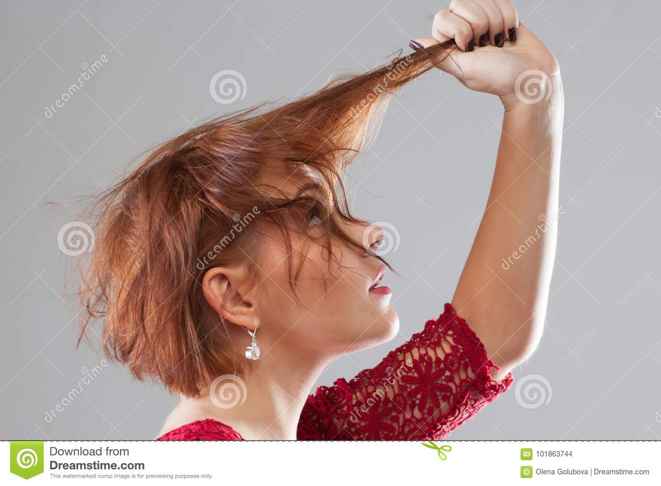 Bad Day, Hair Loss . Hairstyle Advertising Stock Photo - Image of ...