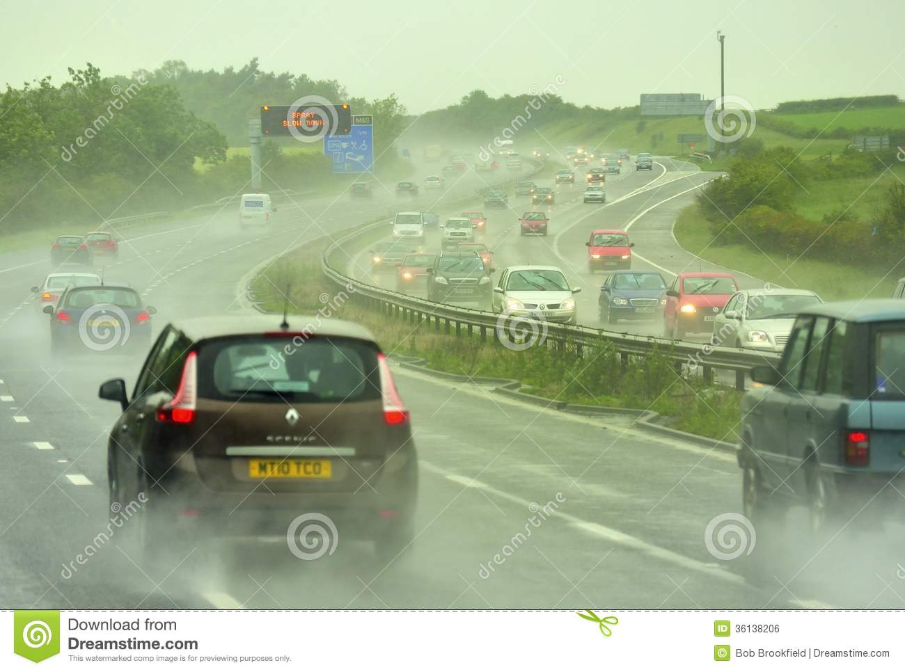 Bad driving weather M6