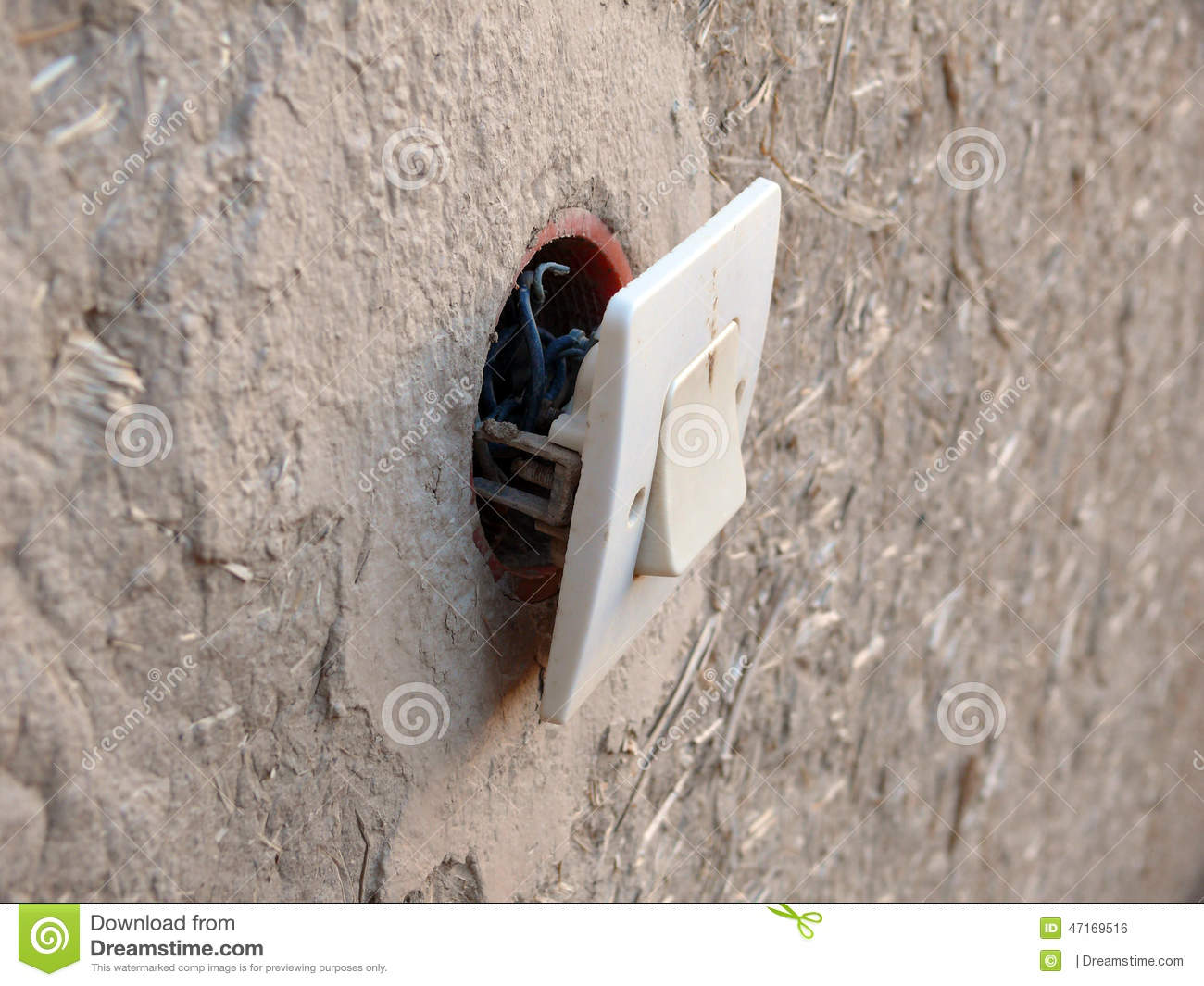 bad electrical wiring in rural moroccan town