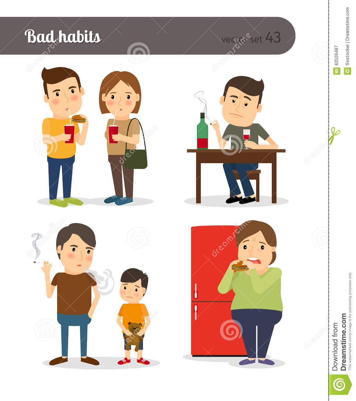 illustration essay about bad habits Free bad habits papers, essays, and research papers  we all have some bad  habits that we find difficult to break  [tags: healthy lifestyle essay.