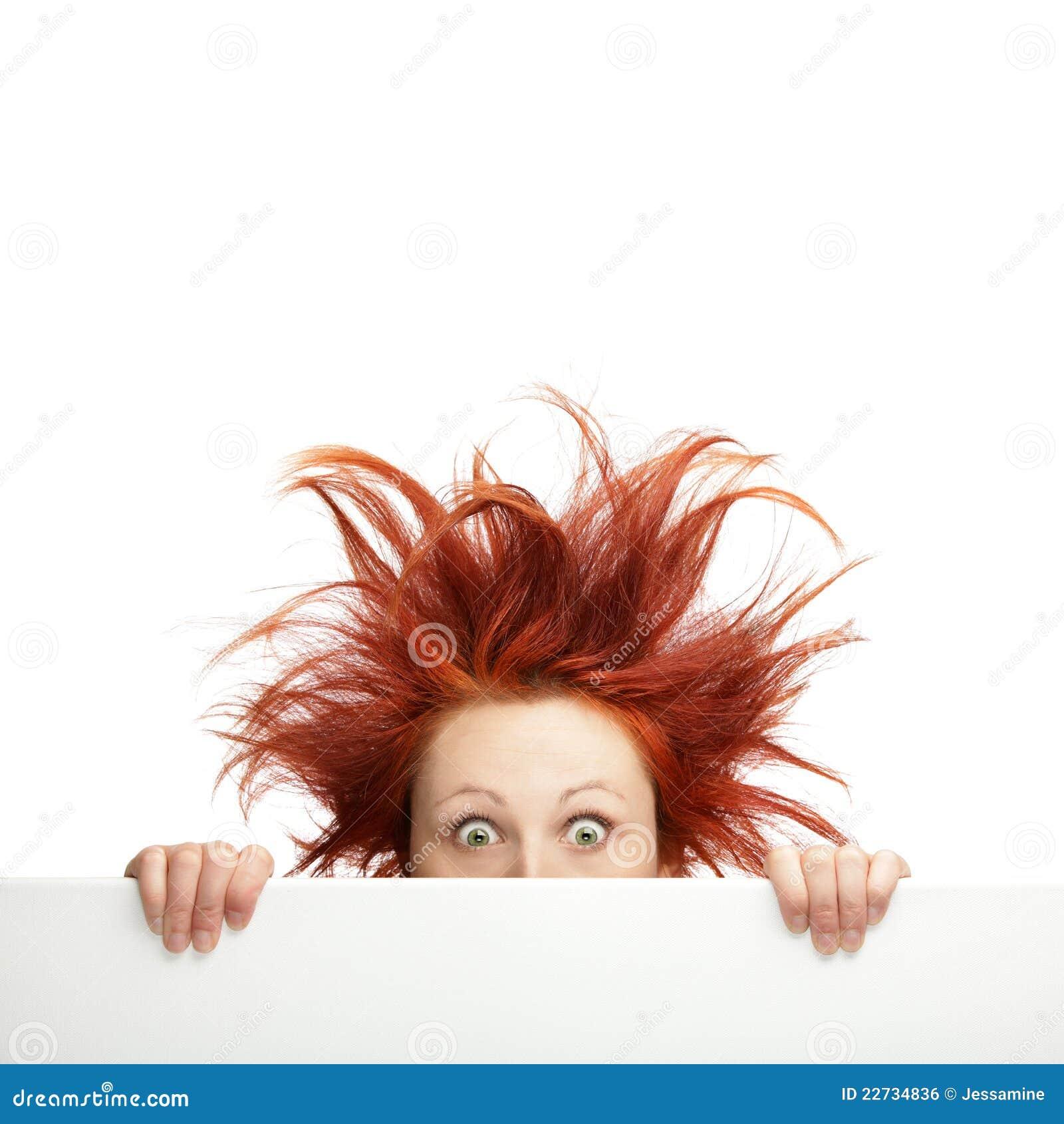 Bad Hair Day Stock Photo Image Of Female Pretty Billboard 22734836