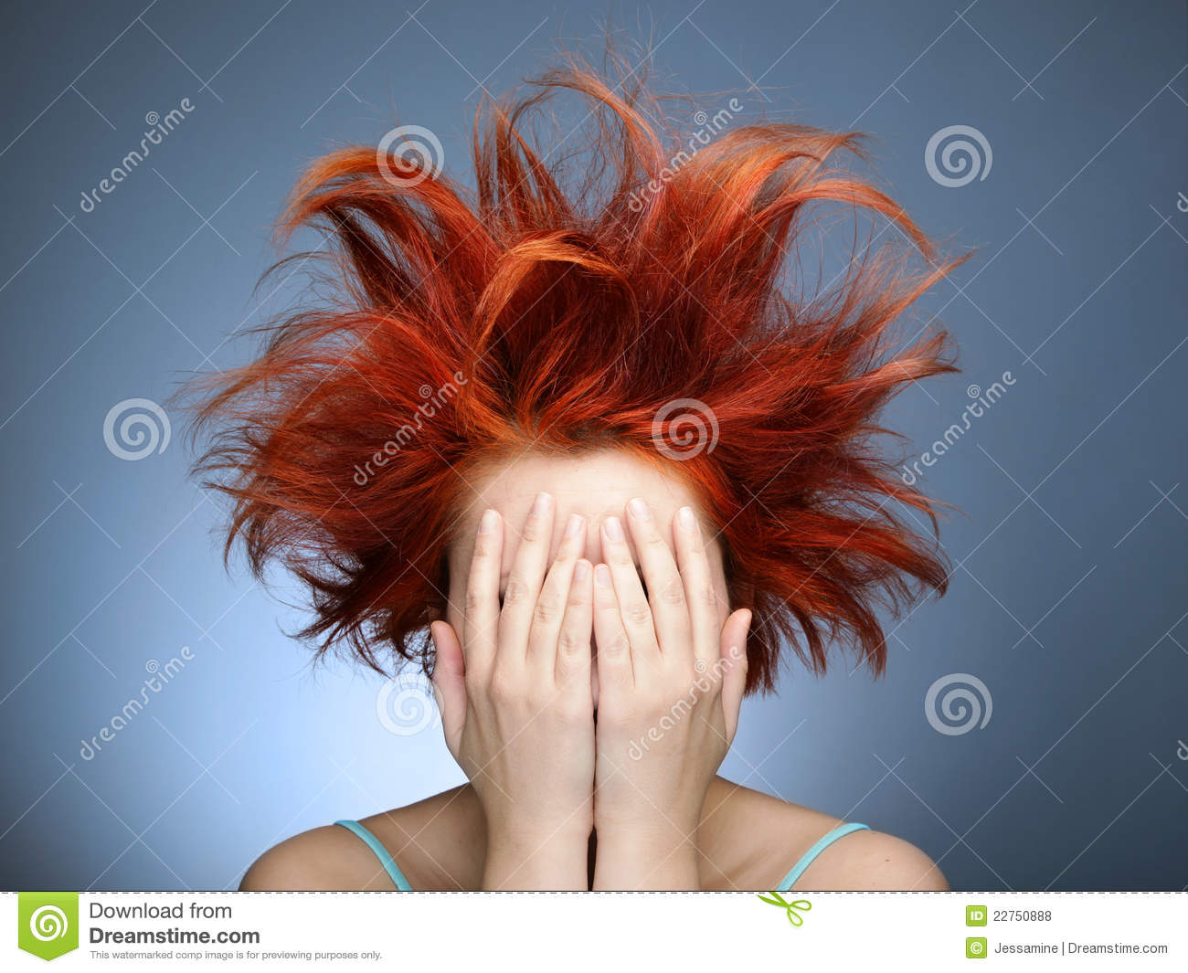 Bad Hair Day Stock Photo Image Of Expression Cover 22750888