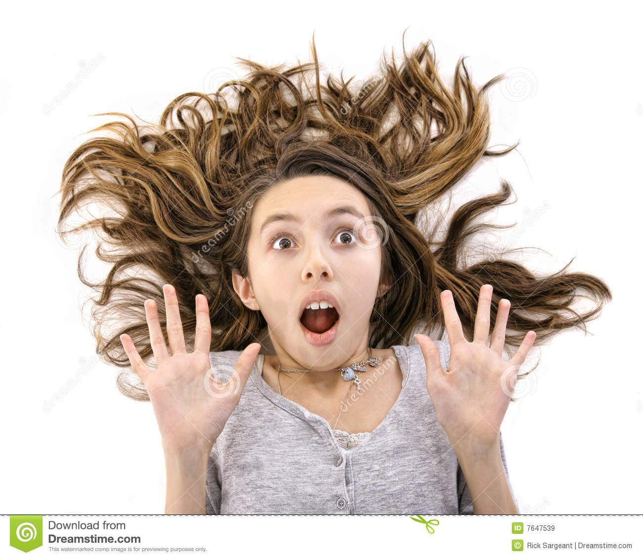 Bad Hair Day Stock Image Image Of Latino Little Head 7647539