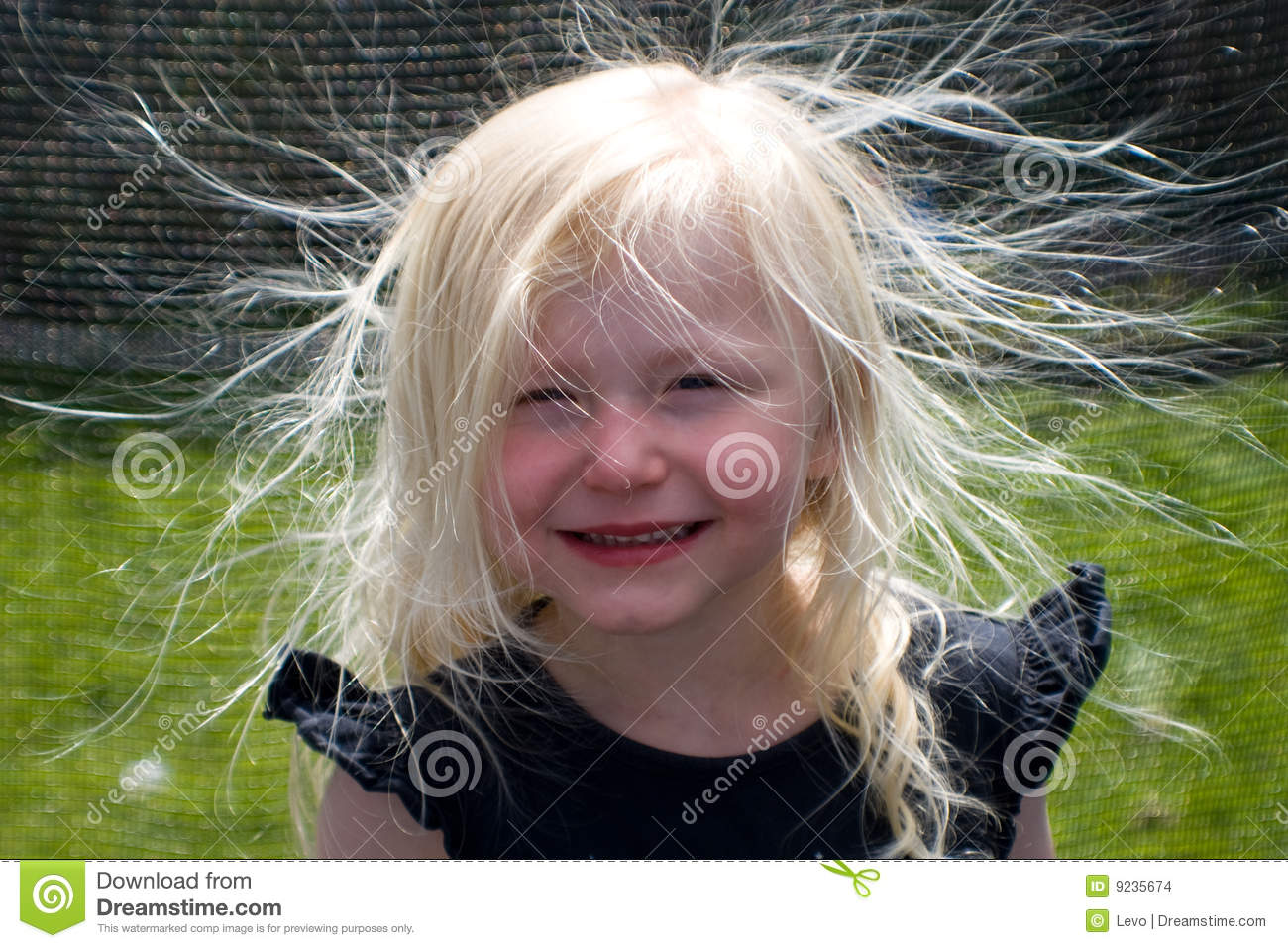 Bad Hair Day Stock Photo Image Of Electricity Smile 9235674