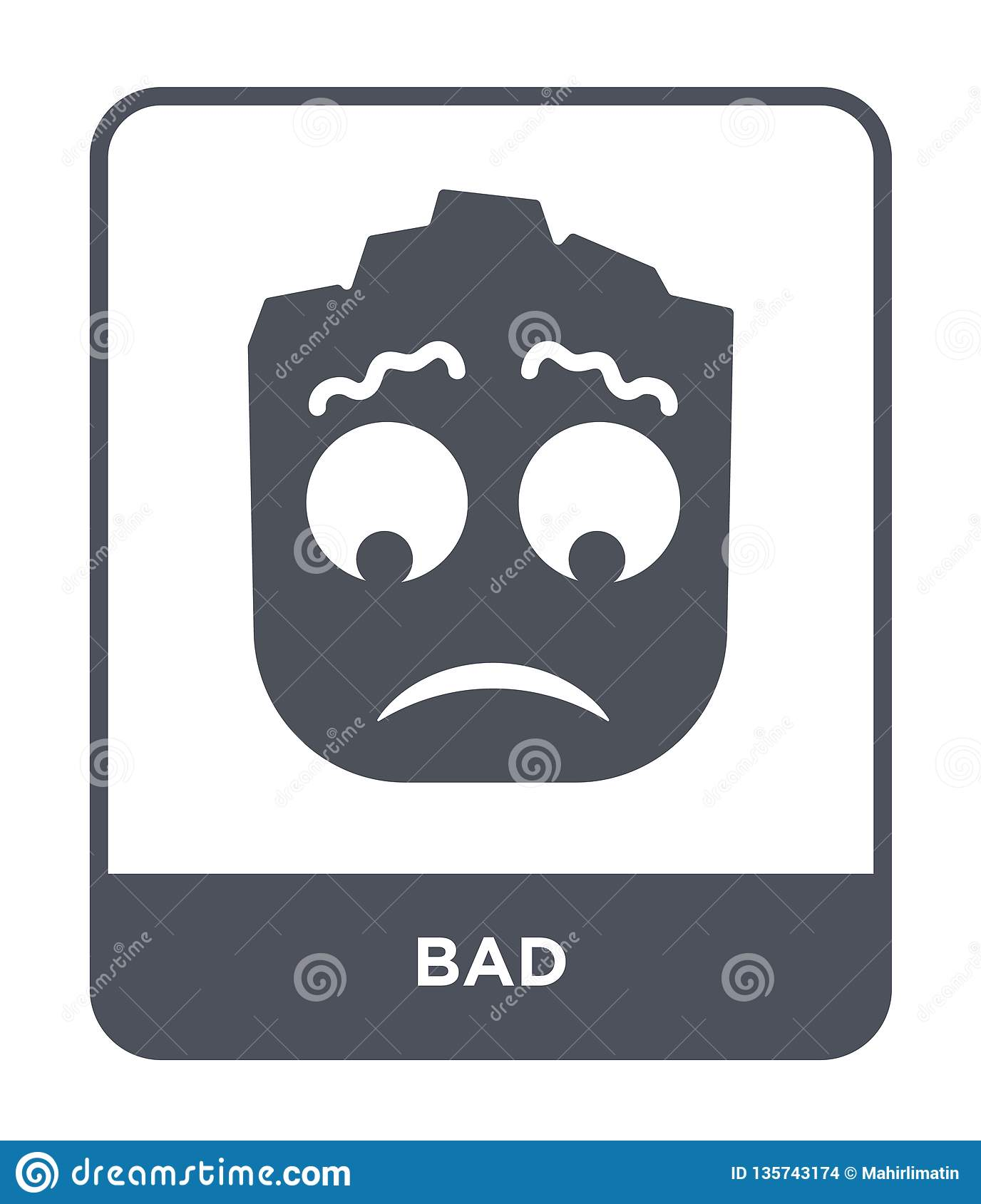 bad icon in trendy design style. bad icon isolated on white background. bad vector icon simple and modern flat symbol for web site