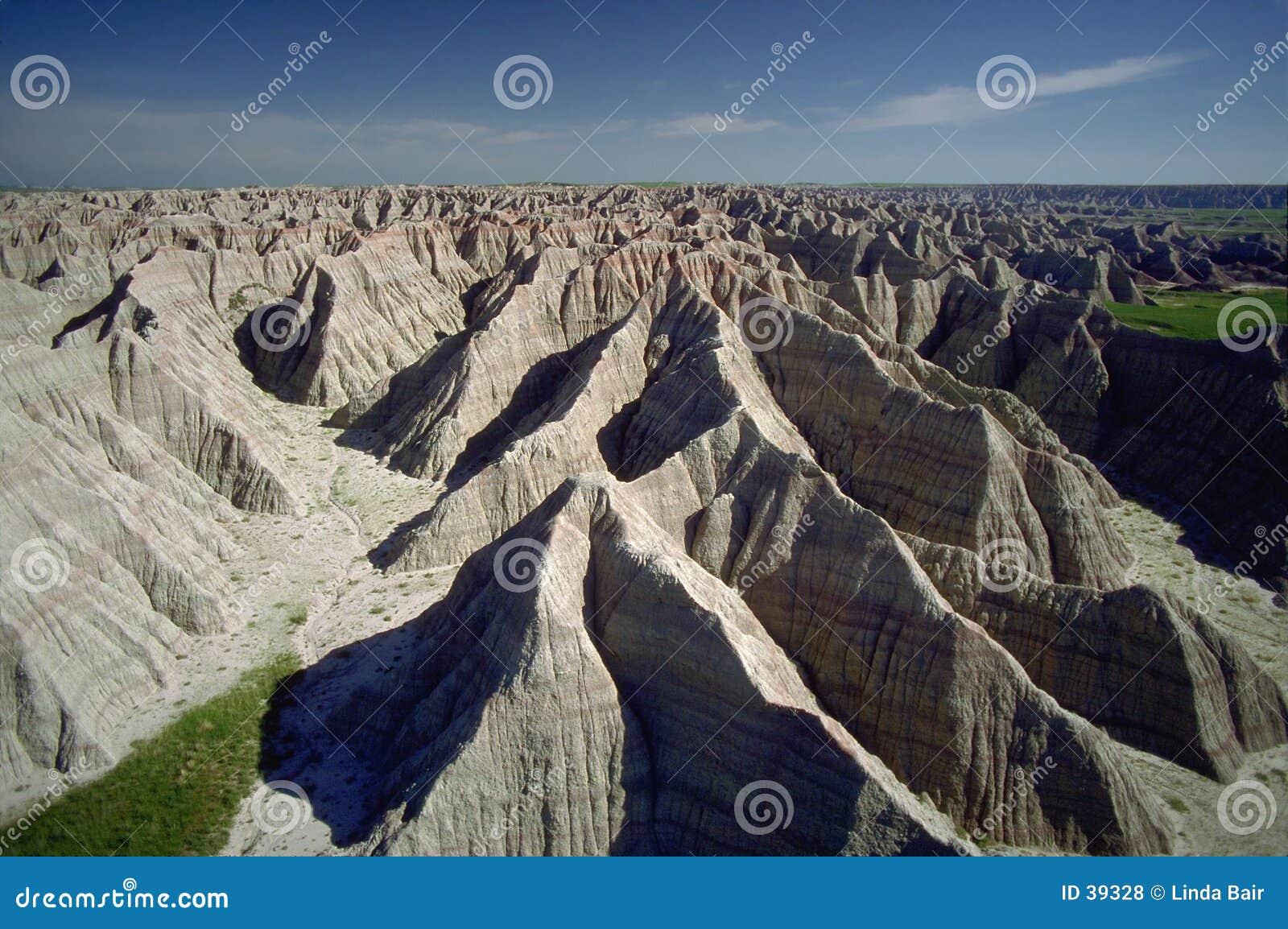 Bad-lands du Dakota du Sud, aériens