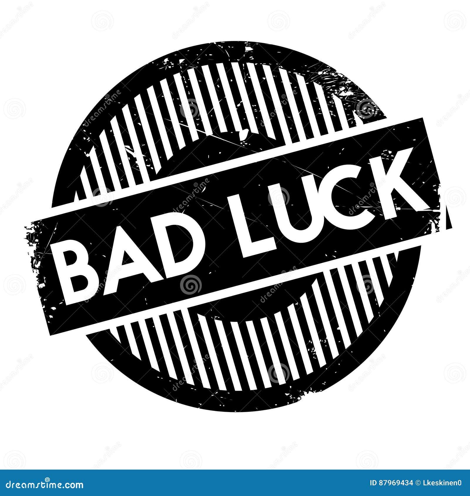 Bad Luck Rubber Stamp Stock Illustration Illustration Of Gambling