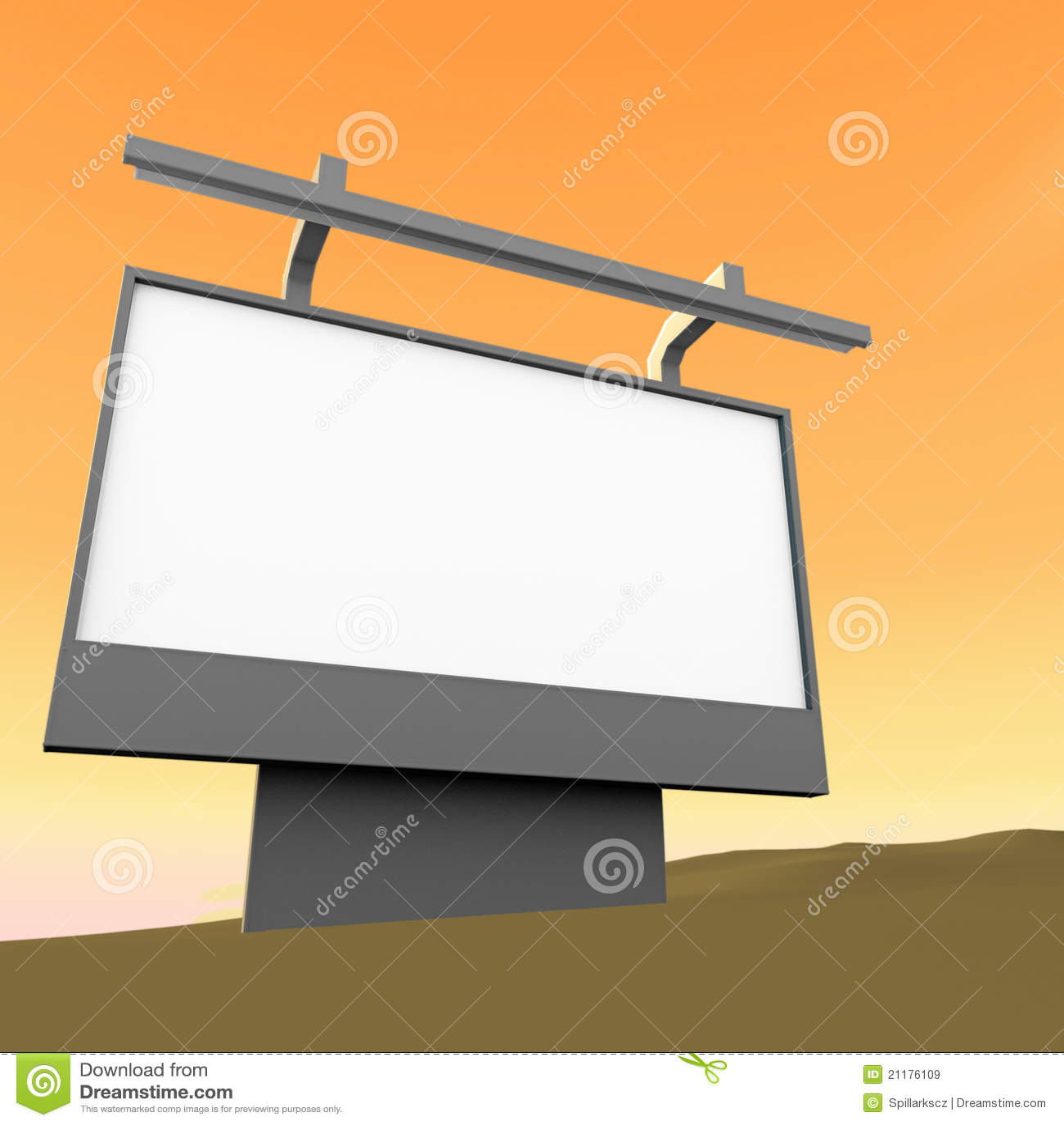 Bad marketing 3d render billboard
