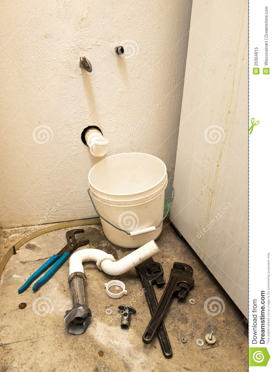 Leak pipe royalty free stock image for Water pipes for home