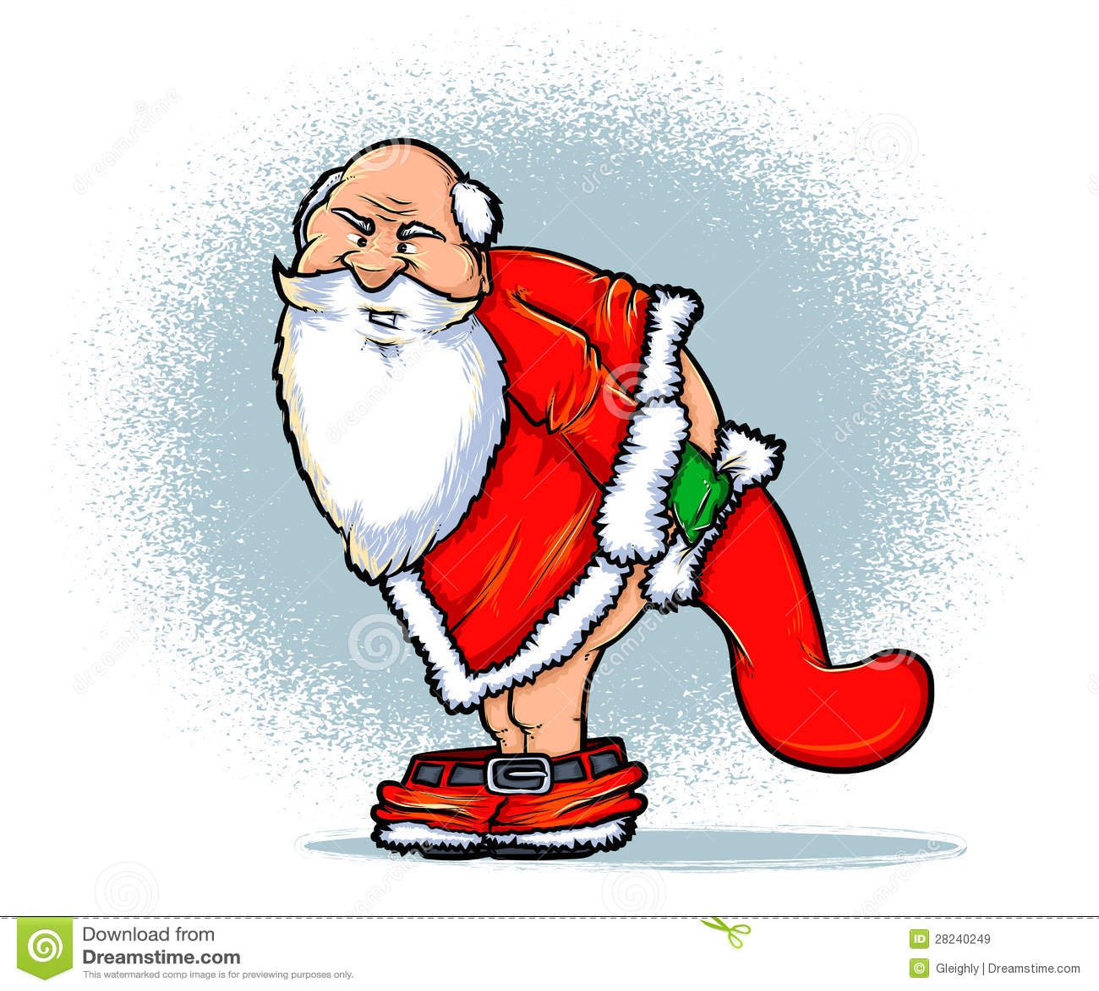 Bad Santa Stock Vector Illustration Of Navidad Humorous 28240249