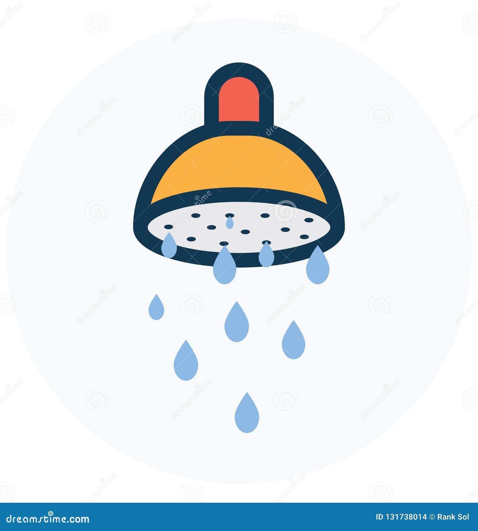 Bad som badar den isolerade vektorsymbolen som kan lätt ändra eller redigera