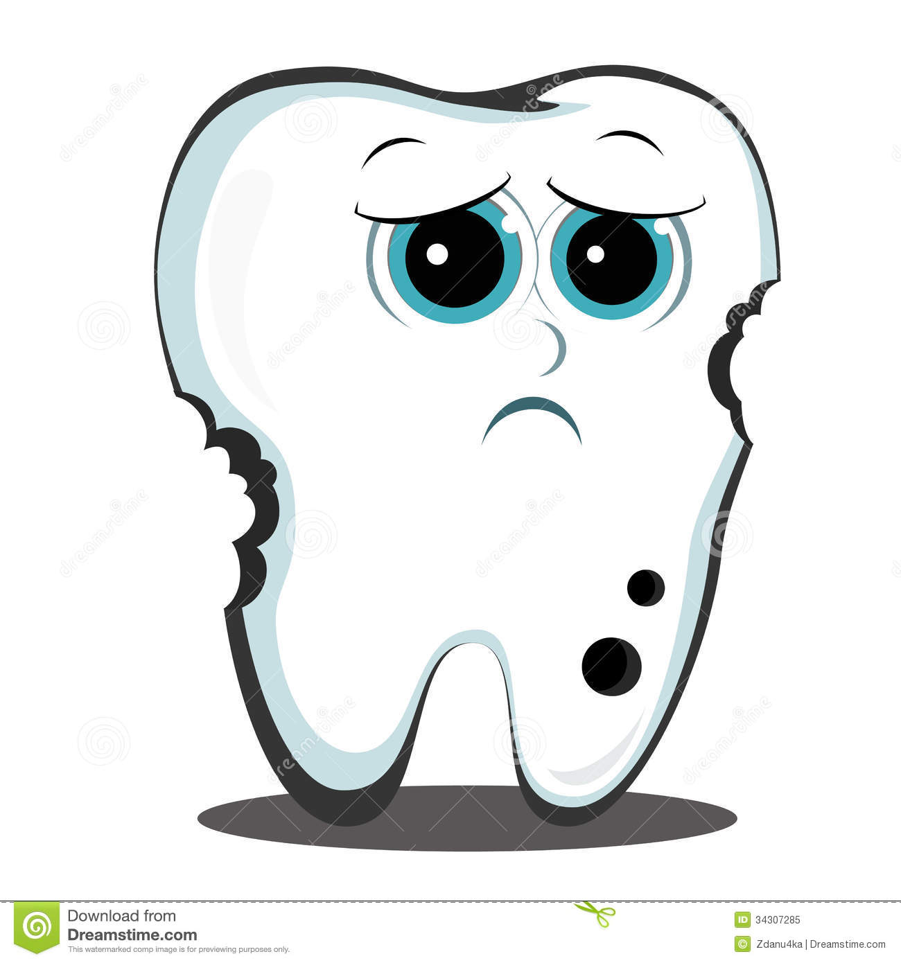 Bad Tooth Royalty Free Stock Photo - Image: 34307285