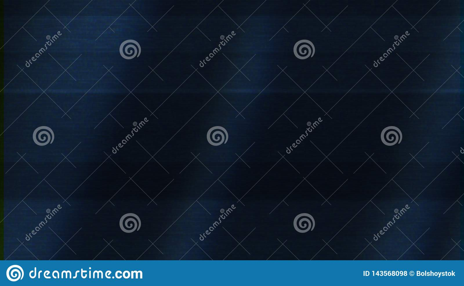 Bad TV signal on dark blue screen, seamless loop. Animation. Abstract animation with the noise on TV screen, motion of