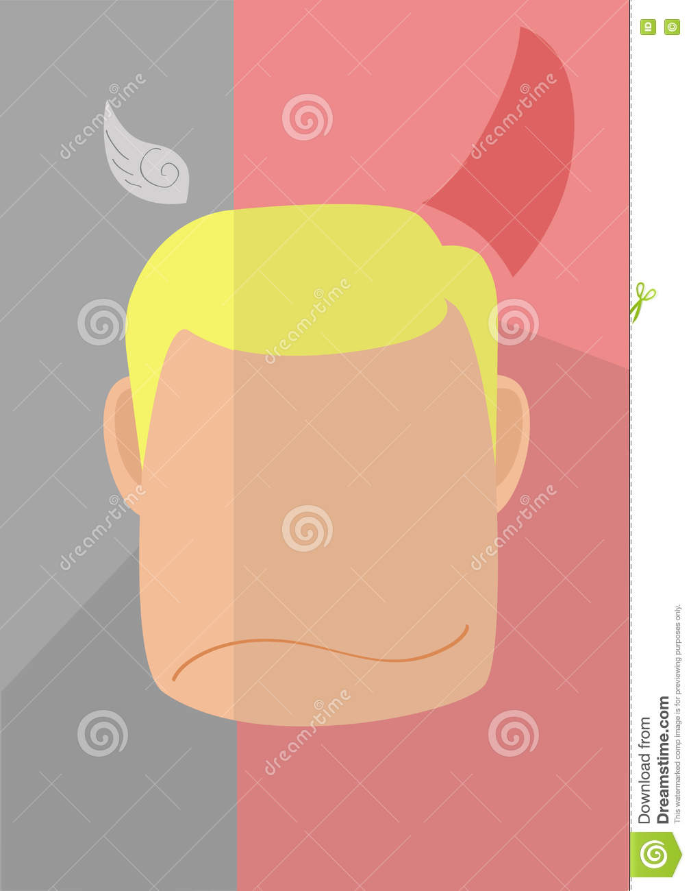 Download Bad Always Win Illustration Stock Illustration   Illustration Of  Graphic, Angel: 79139892
