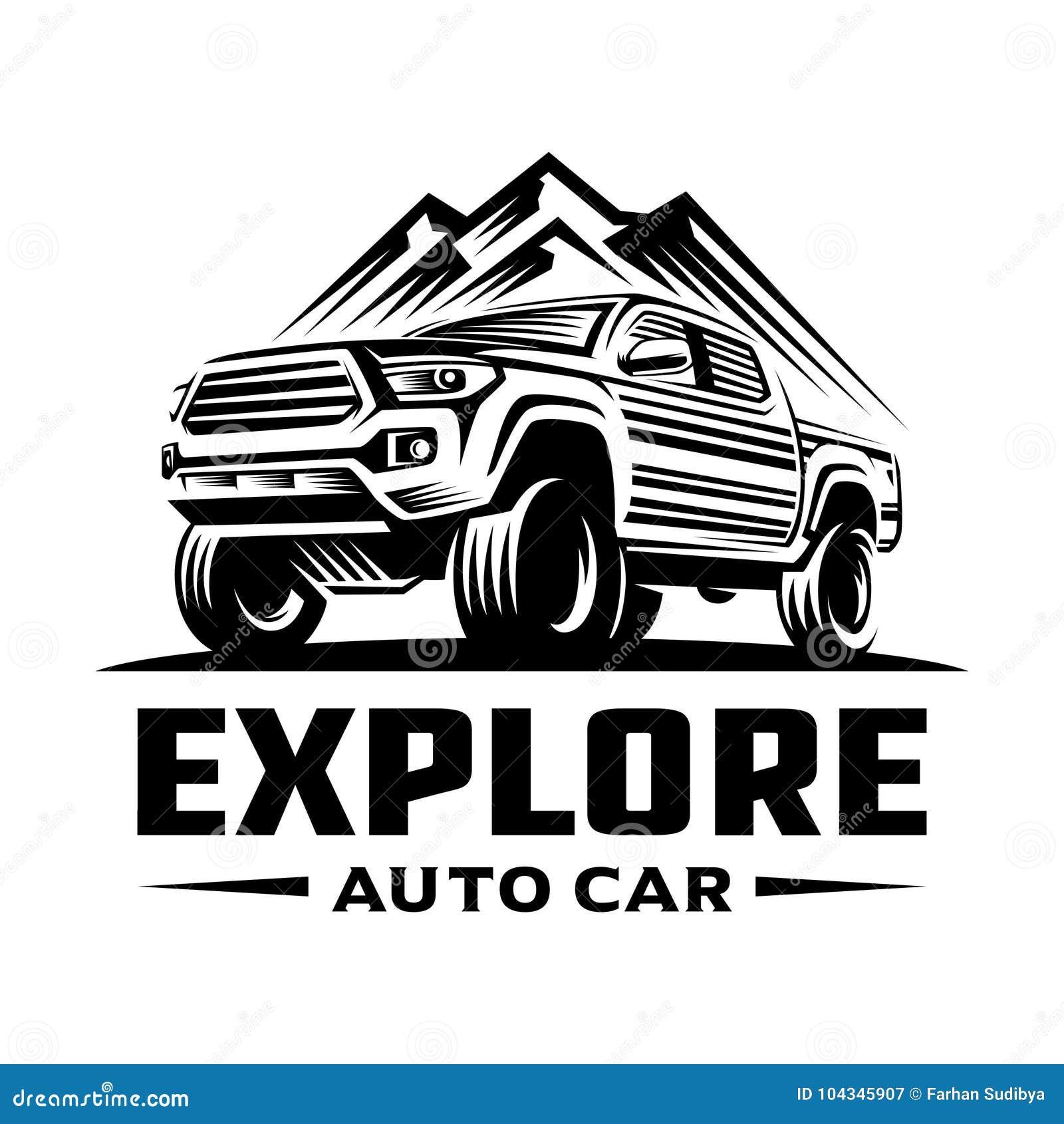 Bada podnosi up samochodowego loga szablon
