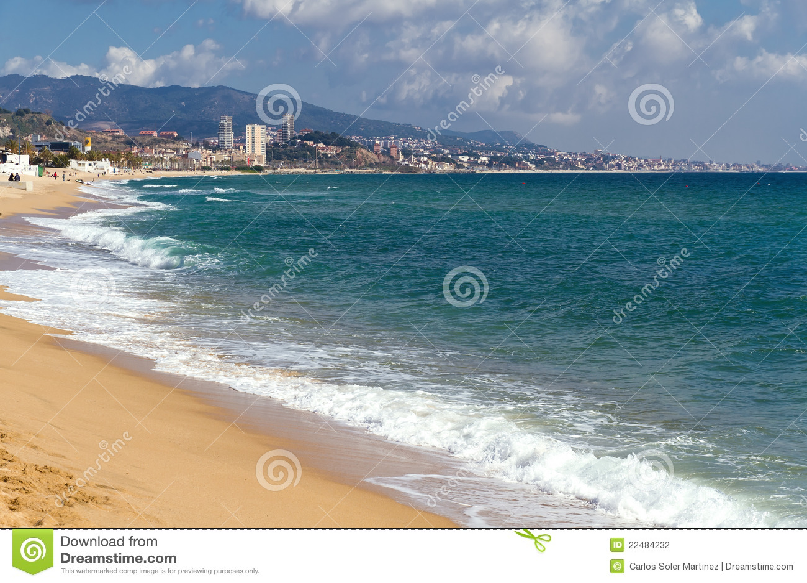 Badalona Spain Coast And Beach Stock Photography Image 22484232