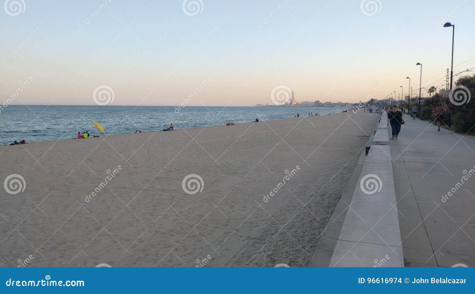 Badalona strand