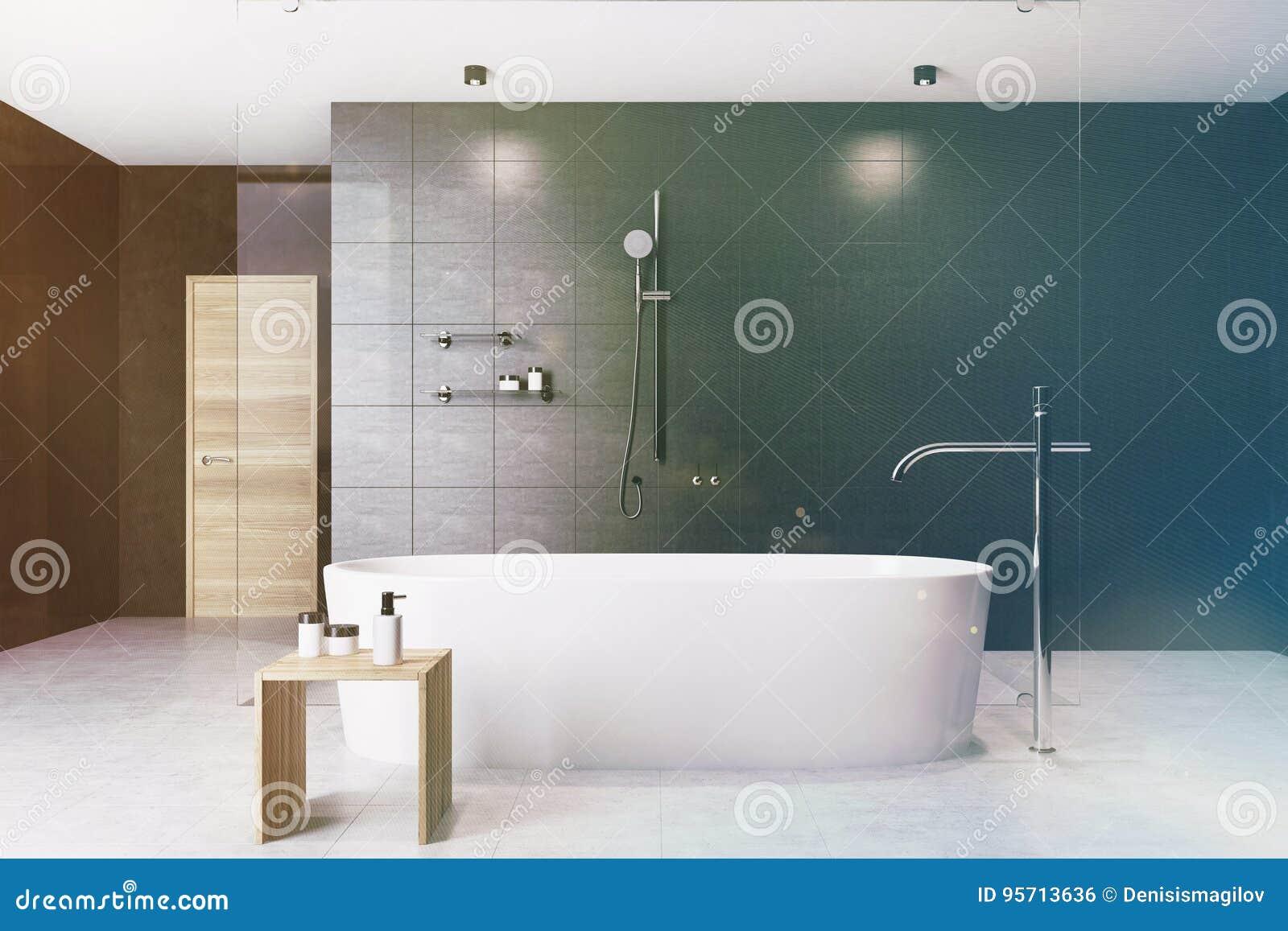 Badar inre vit för det svarta badrummet tonat
