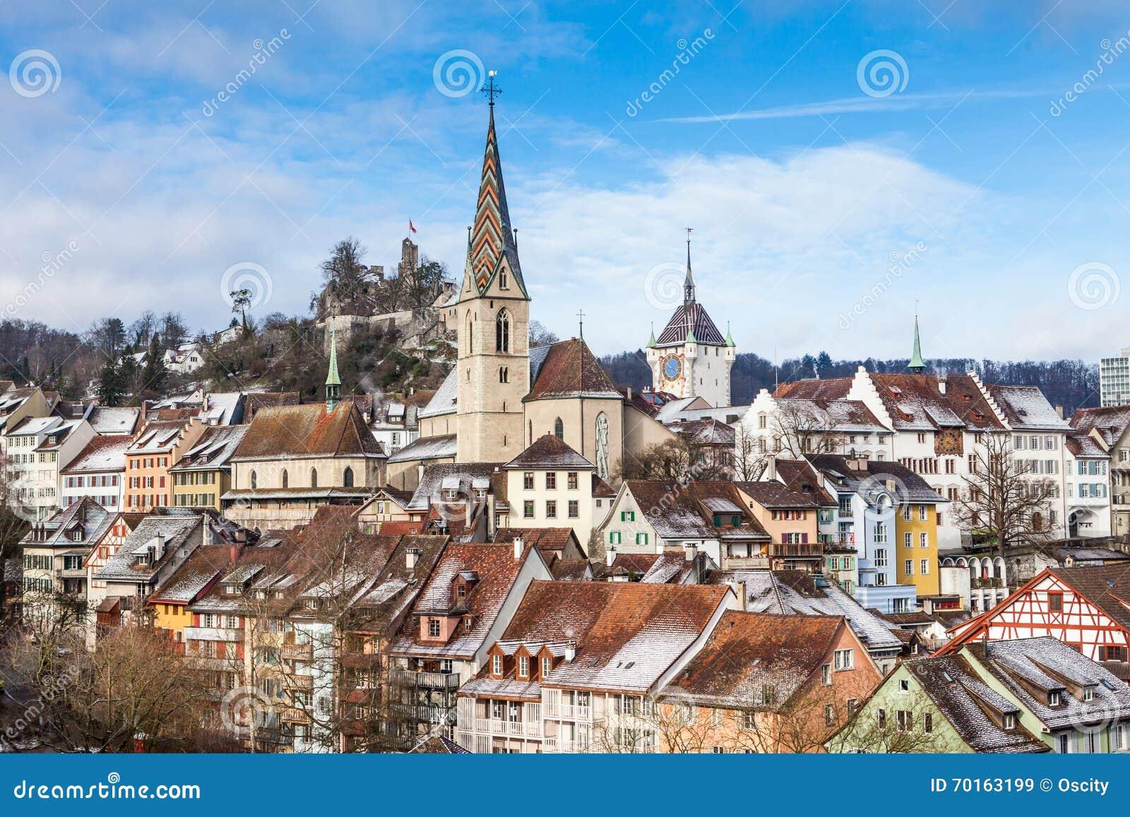 BADEN AARGAU SWITZERLAND stock image Image of municipality 70163199