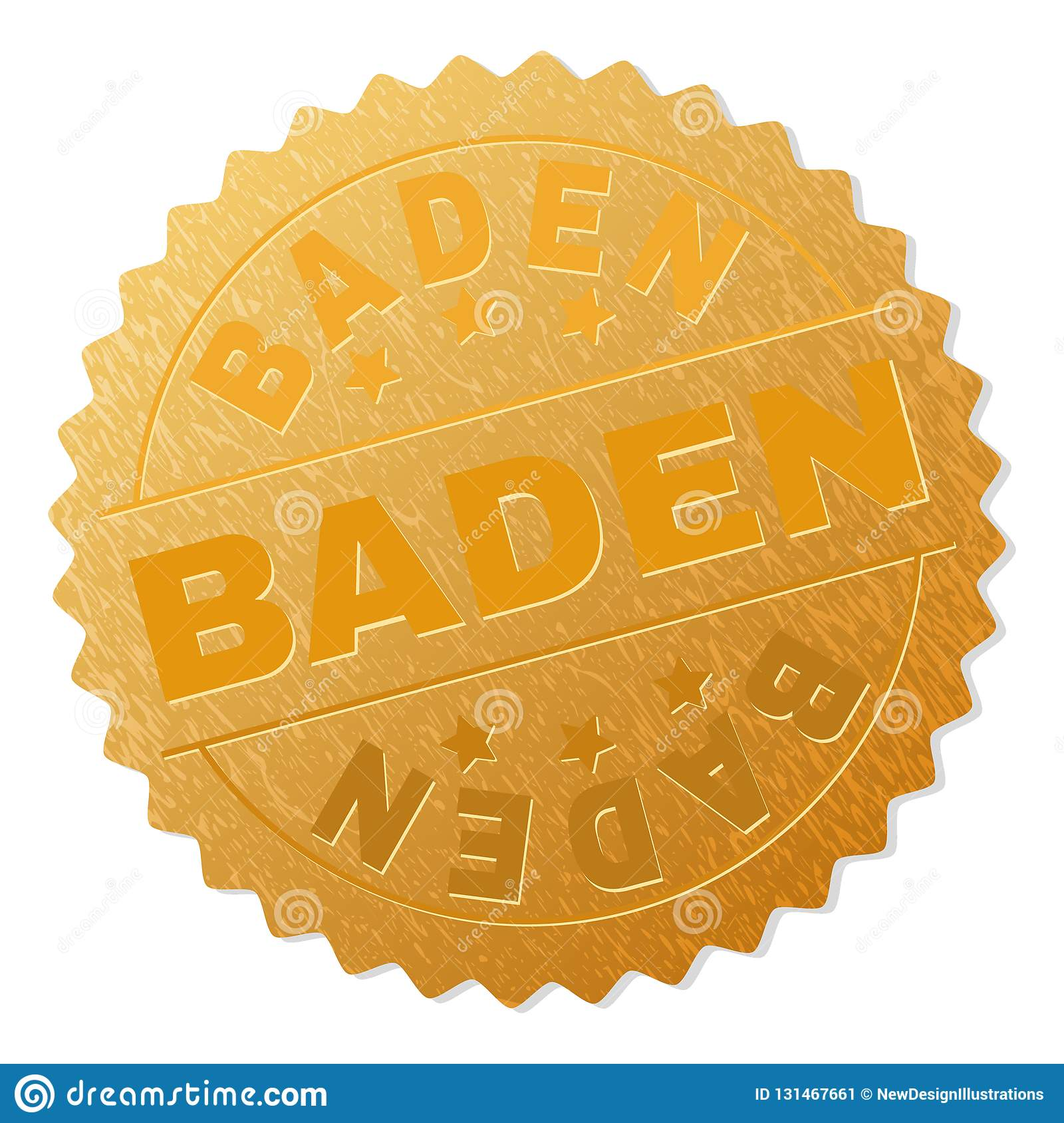 BADEN Badge Stamp dourado