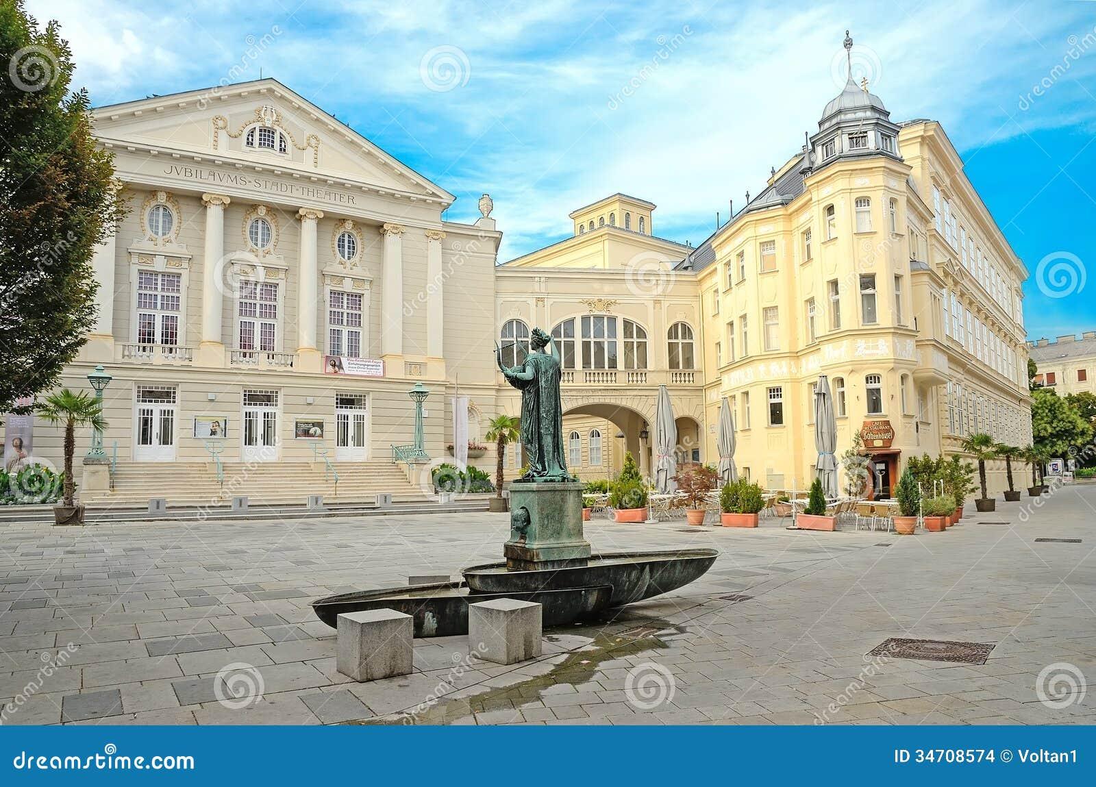 Baden Austria  city pictures gallery : BADEN BEI WIEN, AUSTRIA JULY 29: The Baden City Theater on ...