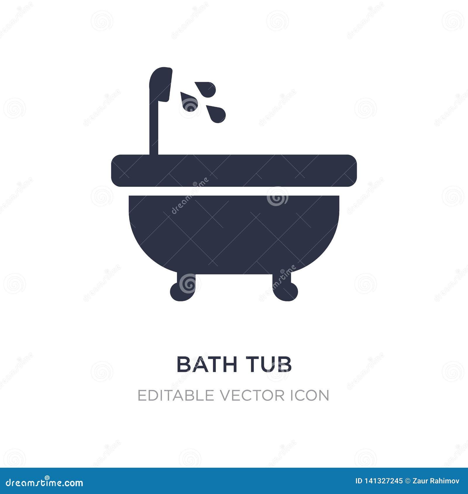 Badet badar symbolen på vit bakgrund Enkel beståndsdelillustration från hjälpmedel- och redskapbegrepp