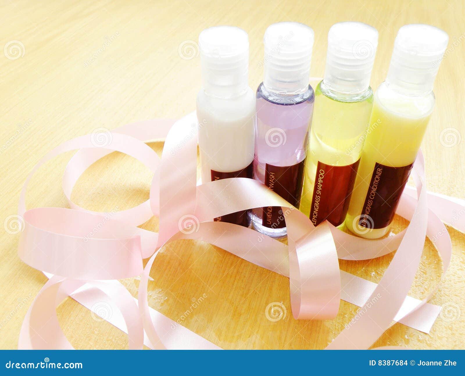 Badet bottles produkttoalettartikeln