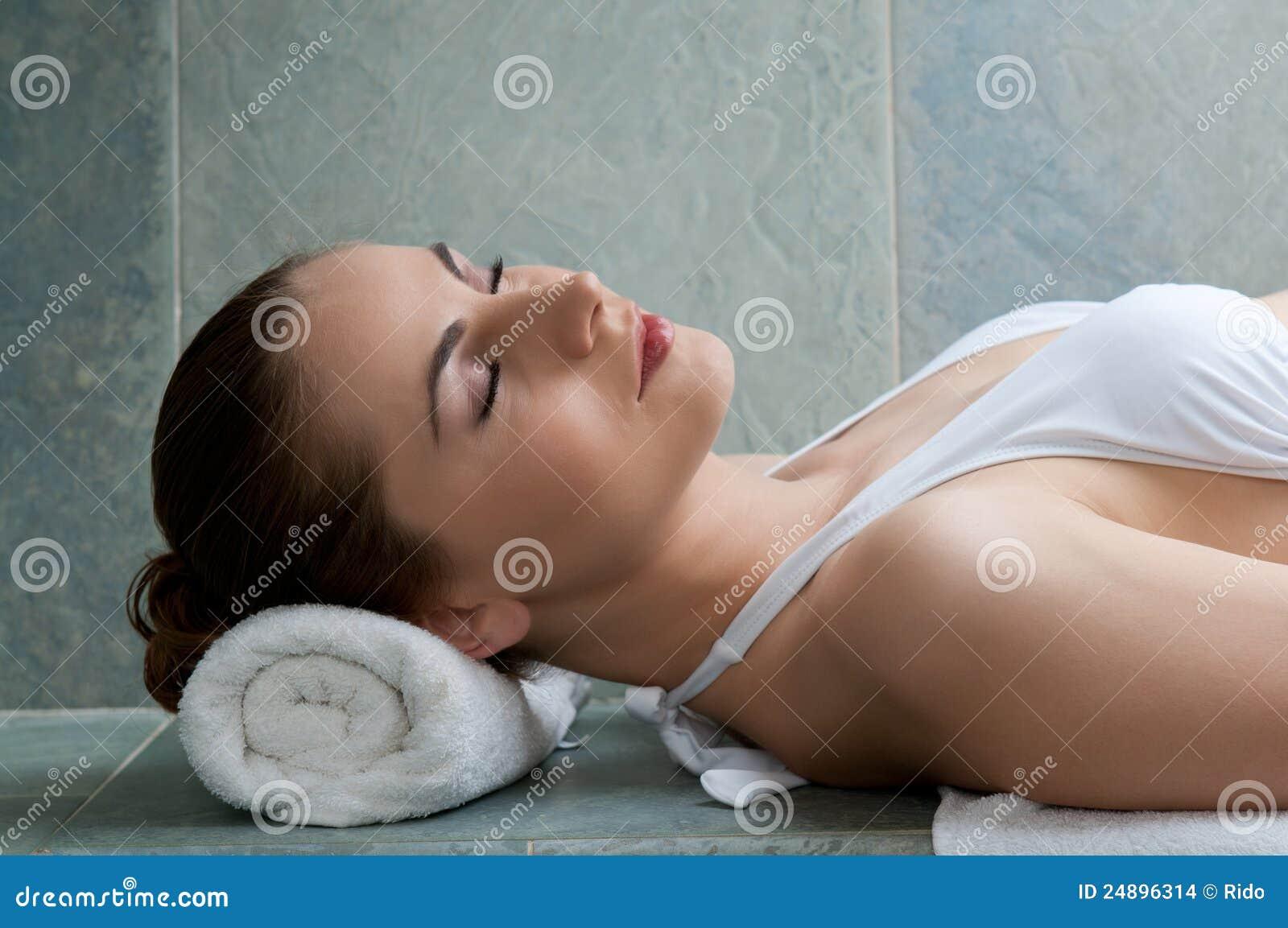 Badet kopplar av turk
