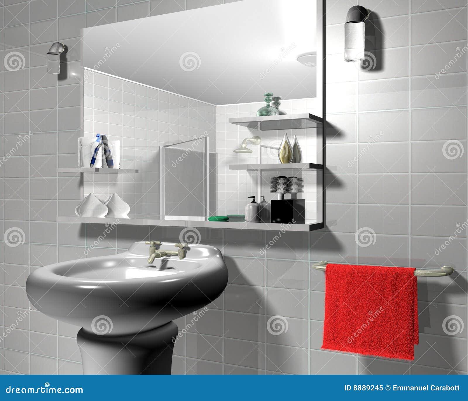 Badezimmer 3d stock abbildung. Illustration von stilvoll - 8889245