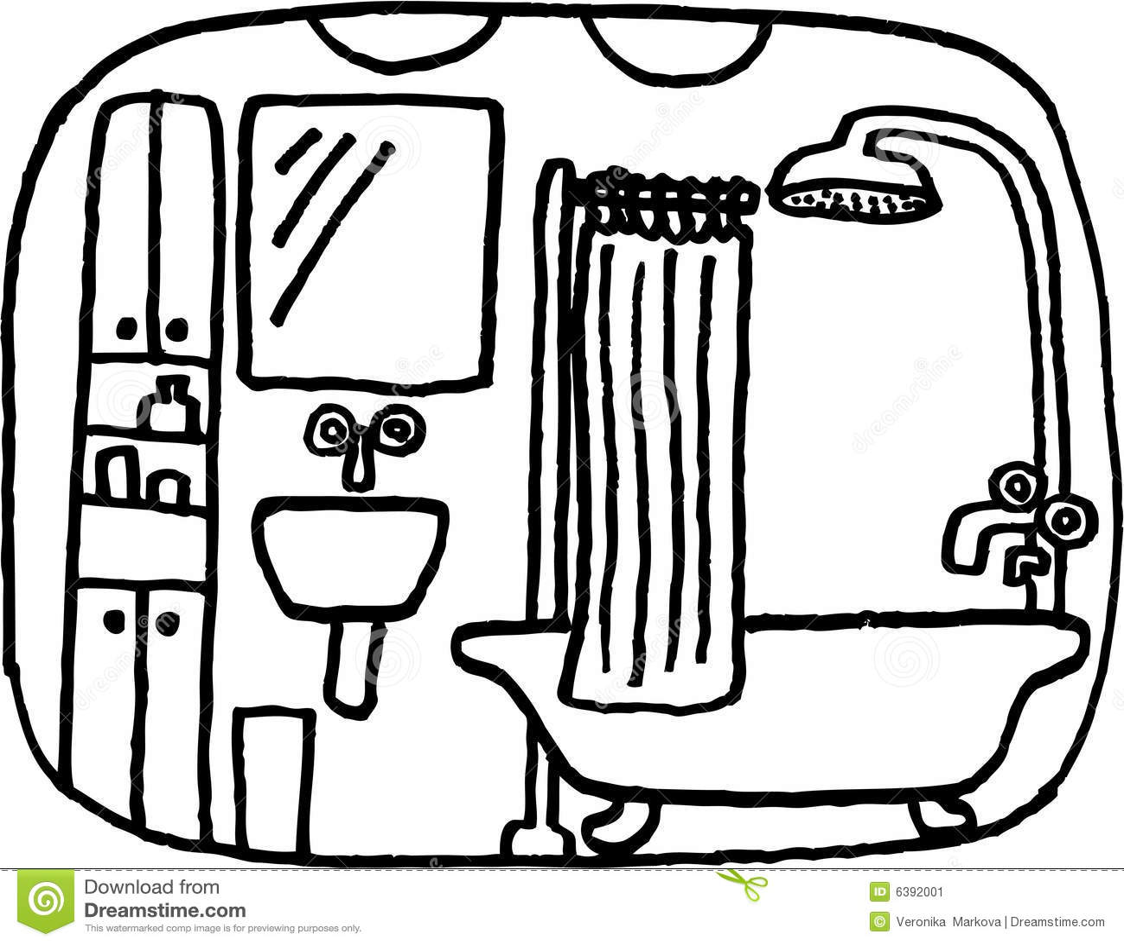Badezimmer vektor abbildung illustration von schauen 6392001 - Badezimmer comic ...