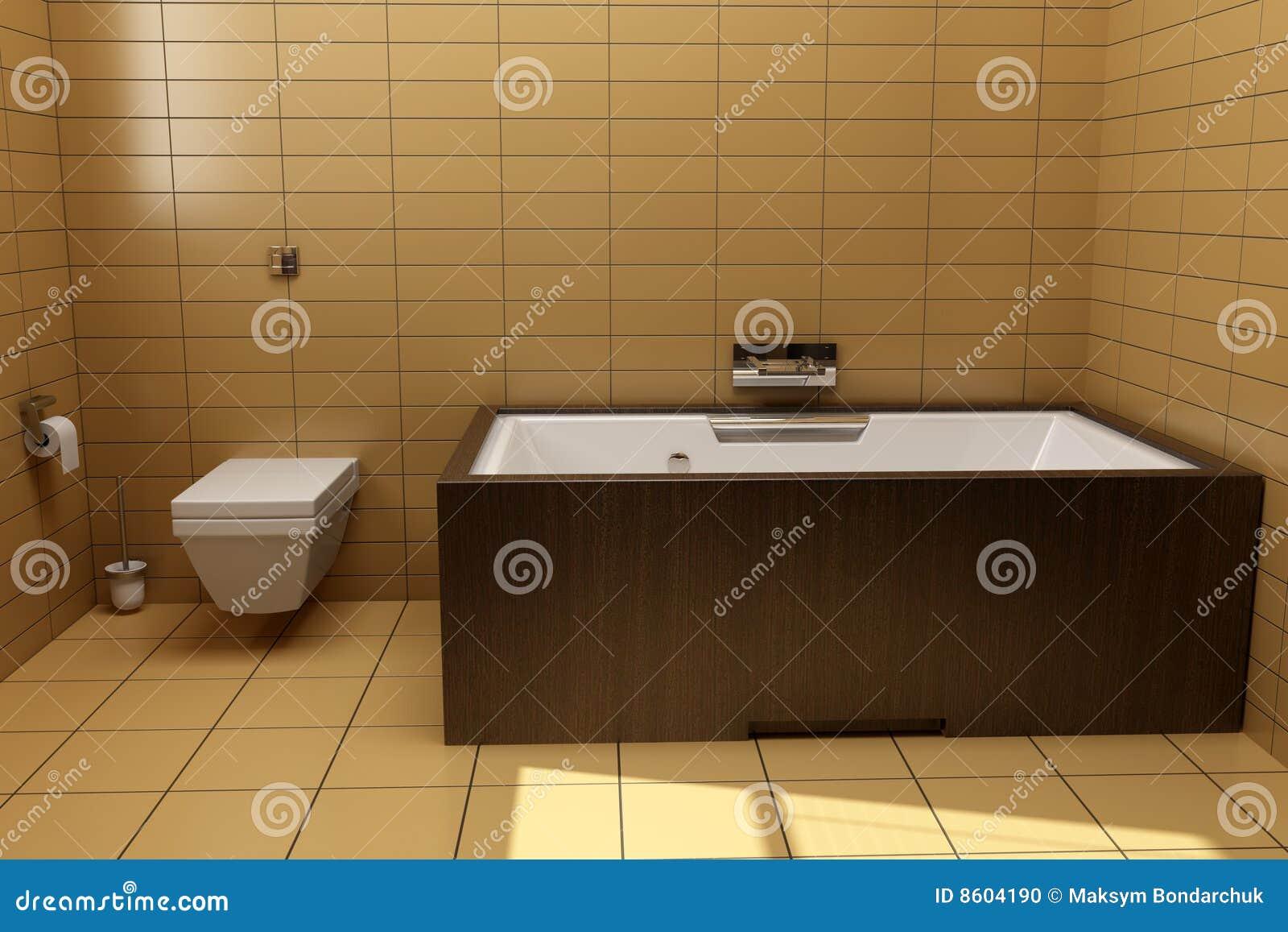 Badezimmer Der Japanischen Art Stockfoto - Bild von hölzern, drei ...