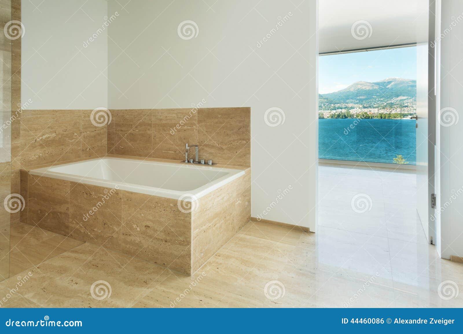 badezimmer marmorboden stockfoto bild von leer wei 44460086. Black Bedroom Furniture Sets. Home Design Ideas
