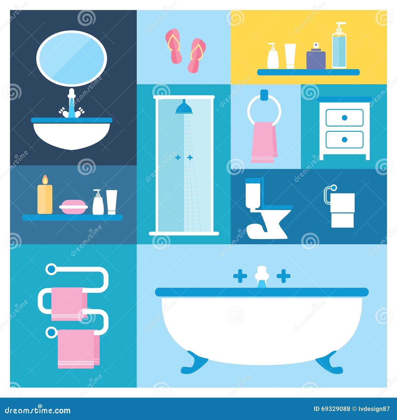 Badezimmermobel Vektor Abbildung Illustration Von Schonheit 69329088