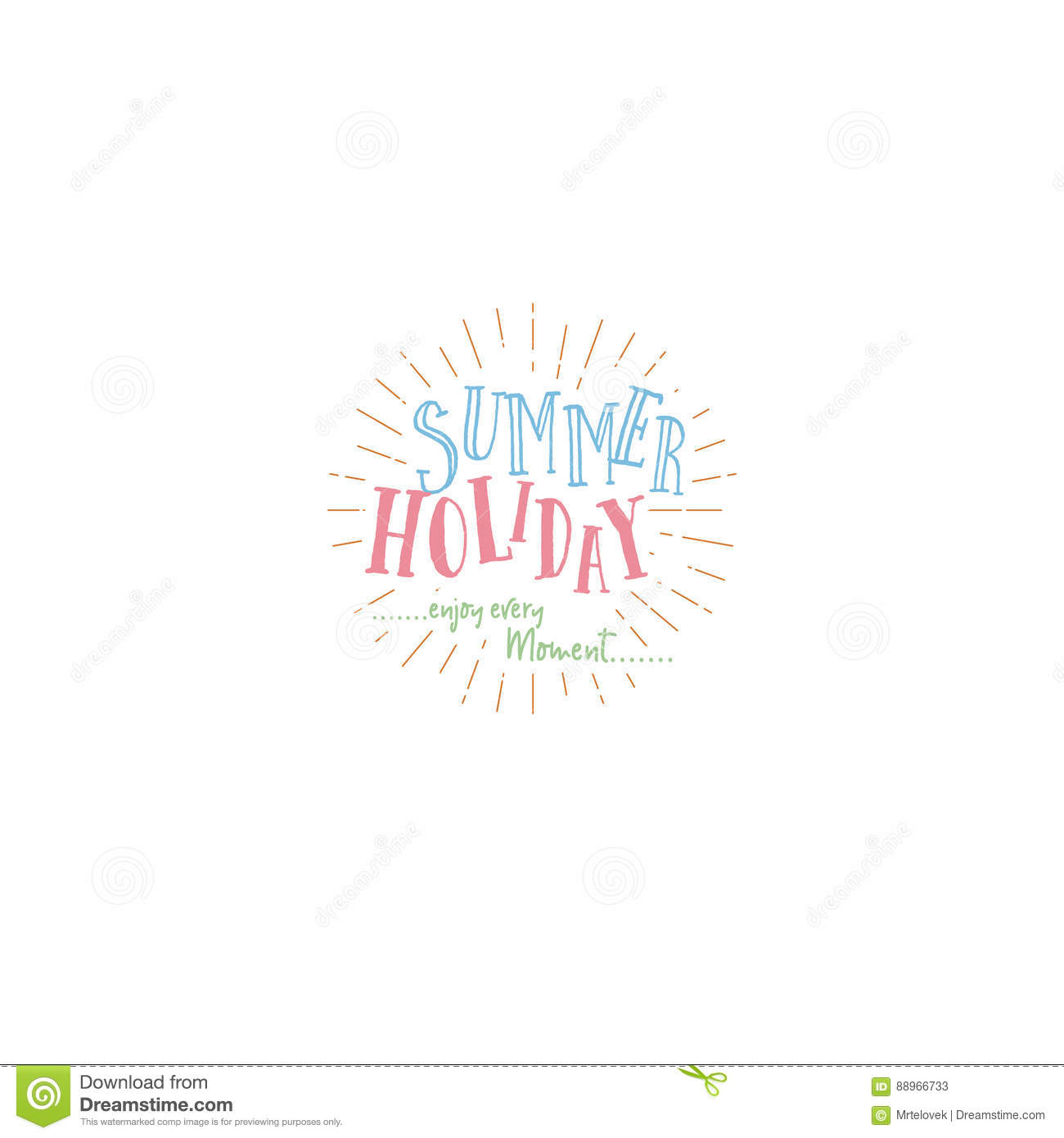 Summer handmade template isolated vector object logo is