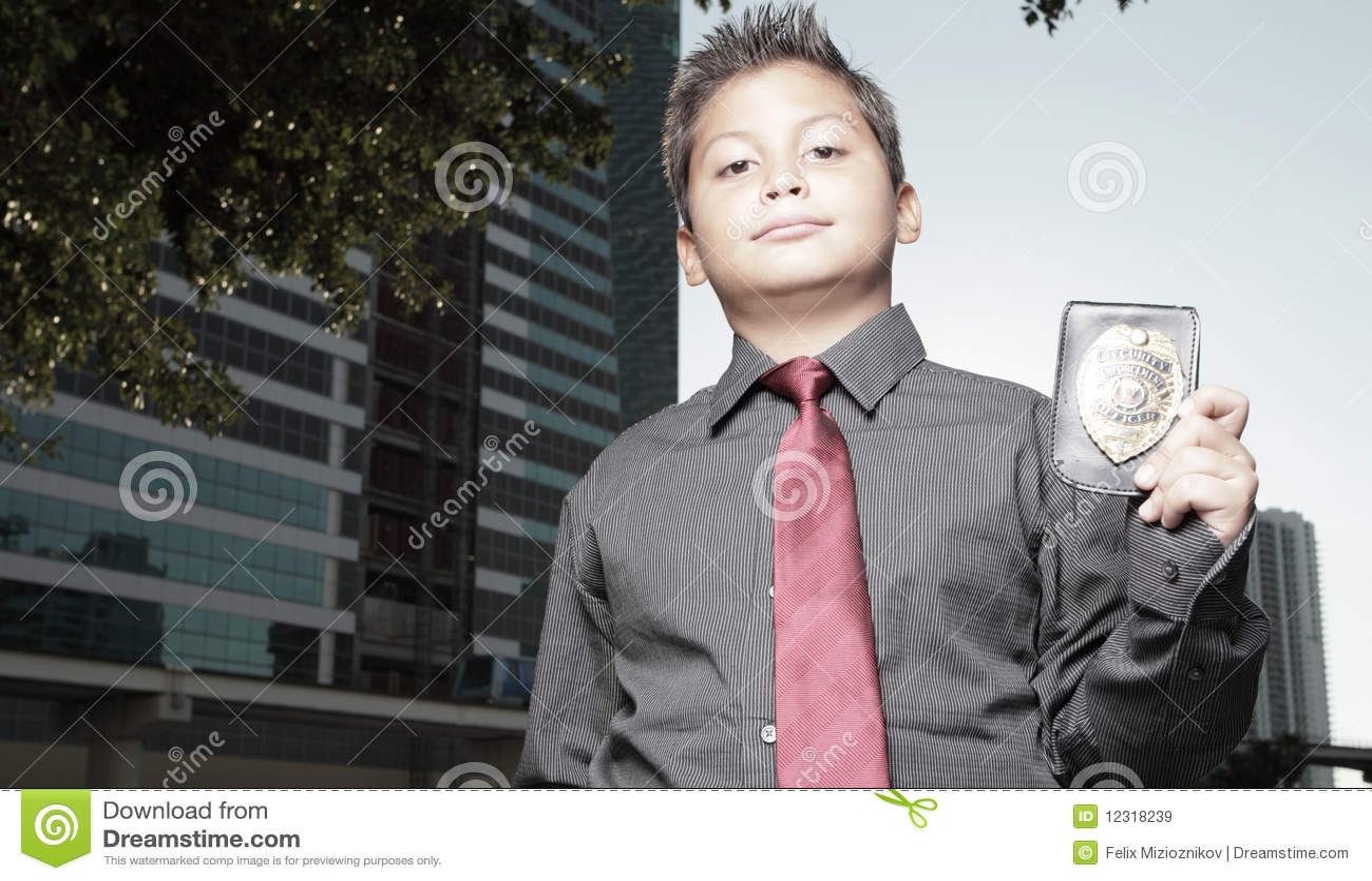 Badge chłopiec potomstwa